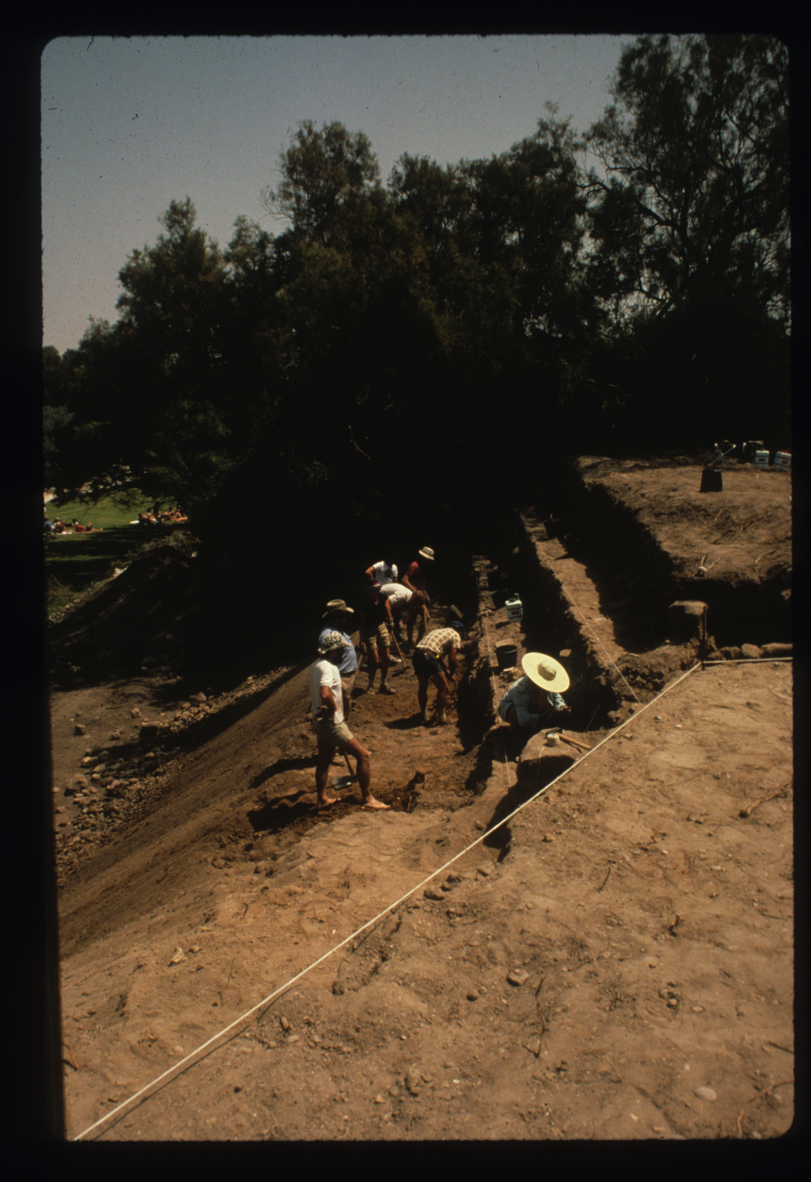 The early days of Grid 38 when it was a step trench.