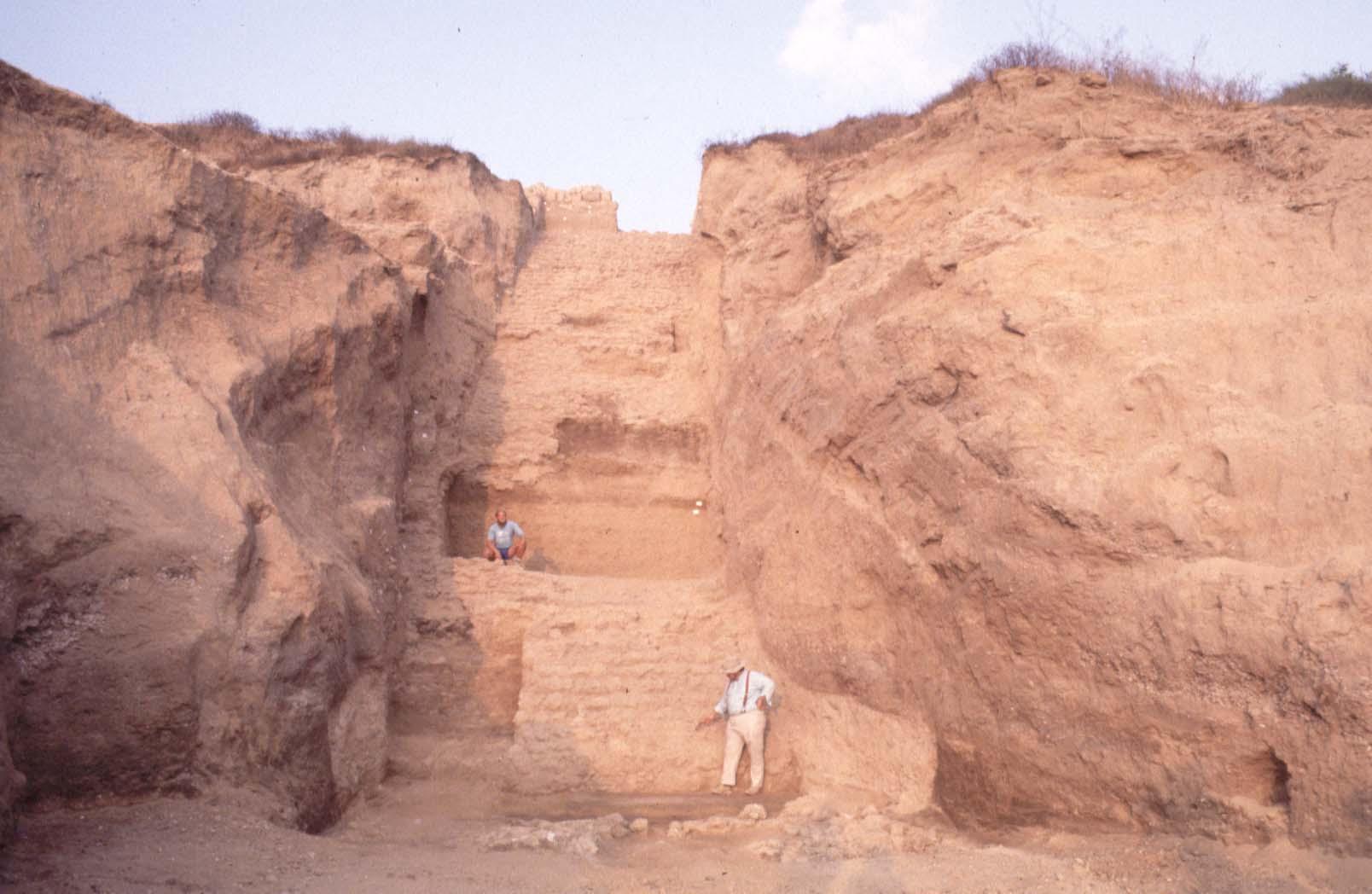 Mudbrick ramparts on the North Tell
