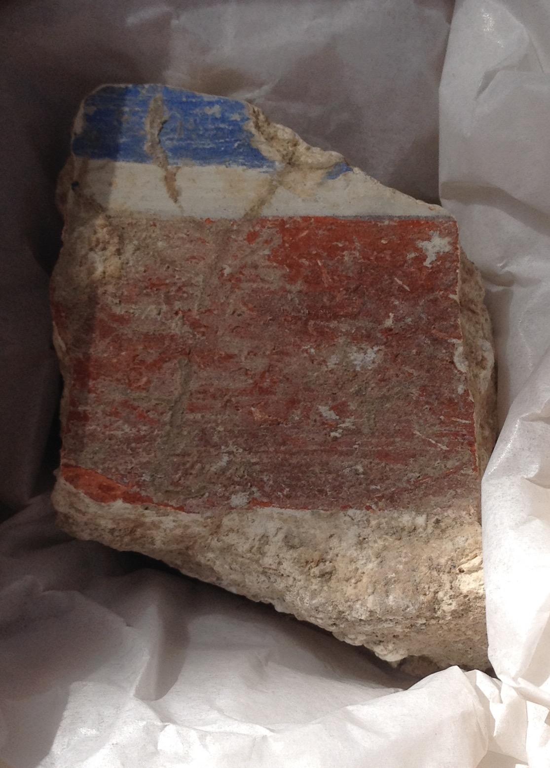 Church fresco fragment