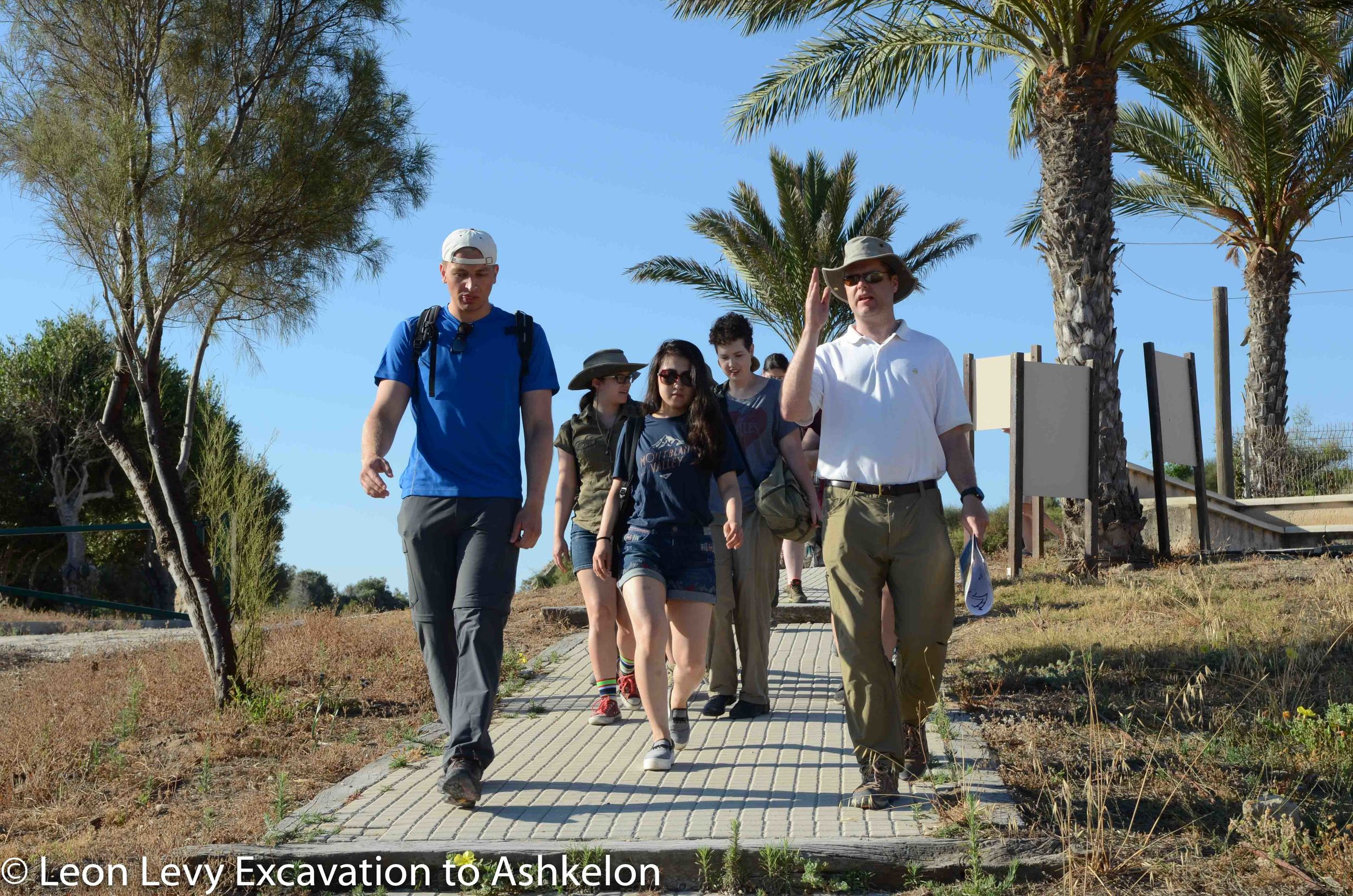 Walking down the path towards the Canaanite Gate