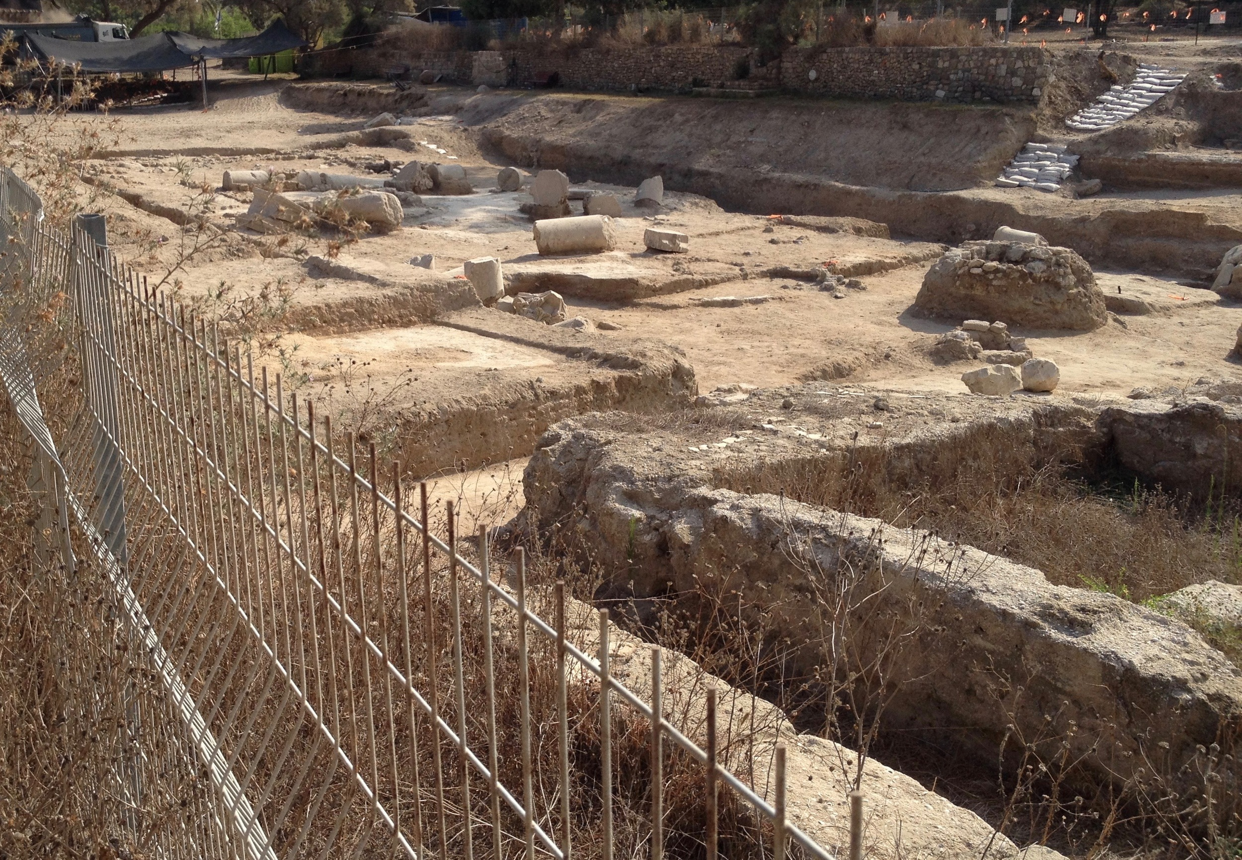 Grid 47 -- 2016 IAA excavation preparing for restoration of bouleuterion