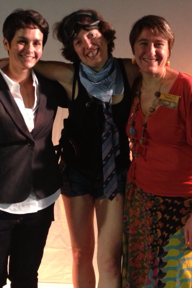 Beth with Cathie Ventalon & Oksana of Cineffable.
