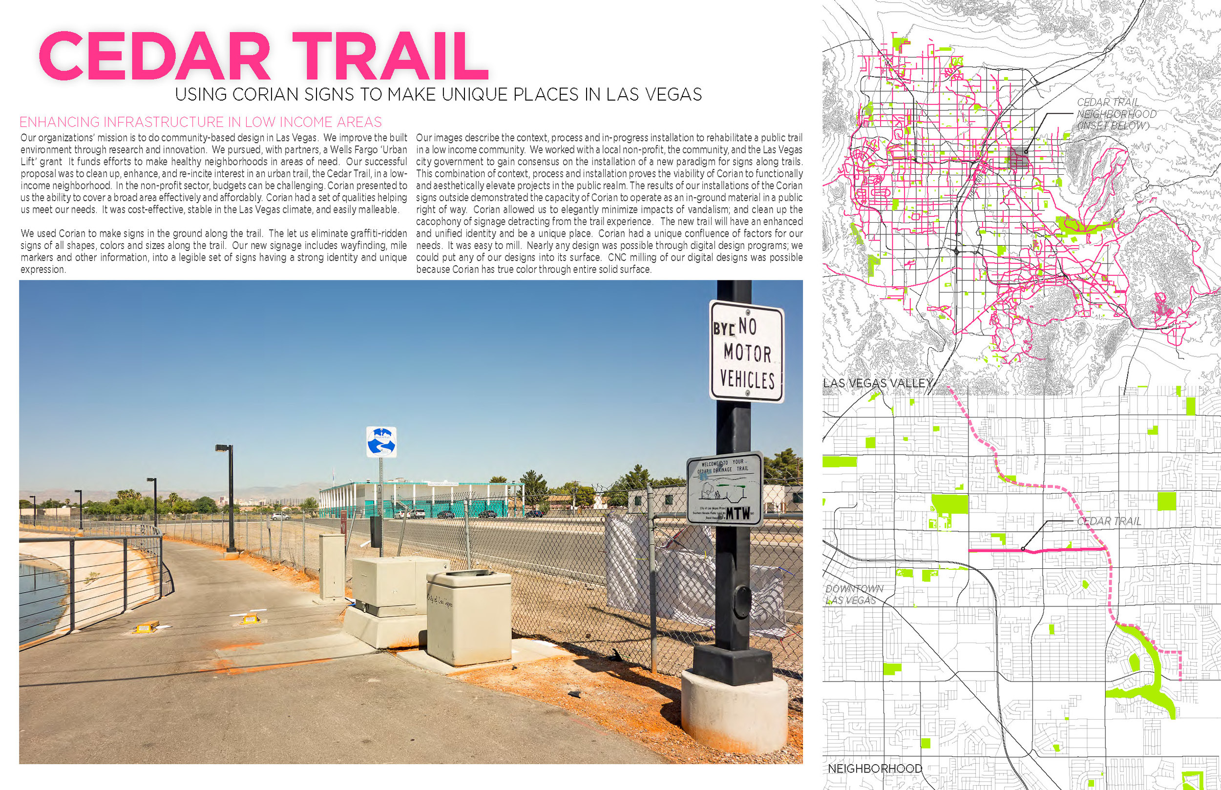 A sample of the trail condition and location maps with the Las Vegas Valley on top and area on the bottom map.