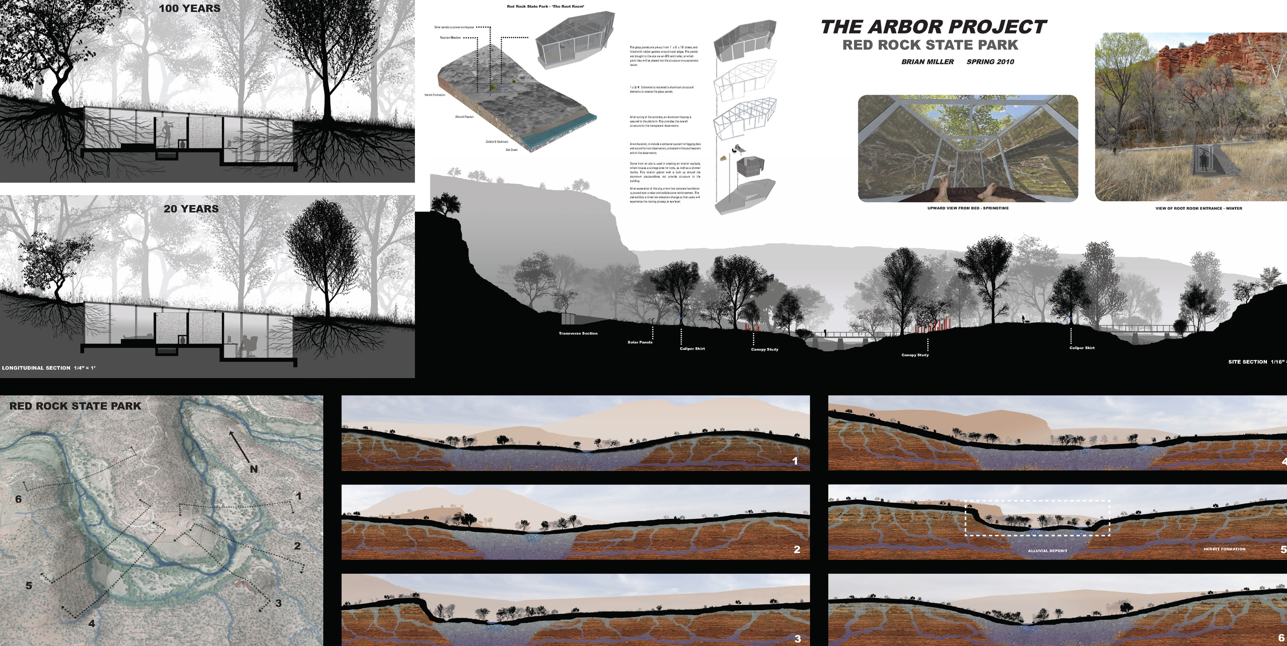 Brian Miller's observatory uses the trees in the riparian areas as indicators of ecological health. If they show certain habits throughout the years, the water supply is good. (click image to see bigger)