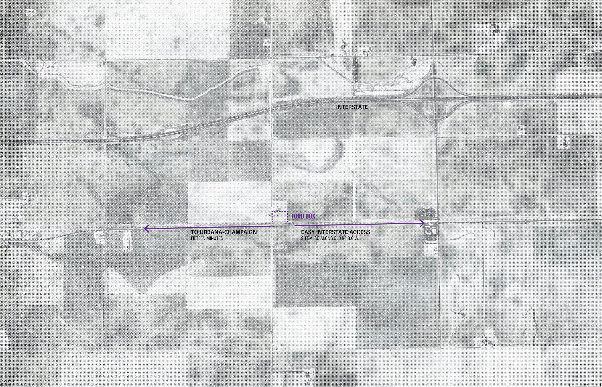 Another map view, showing the local context of the silo project. (click image for larger view)