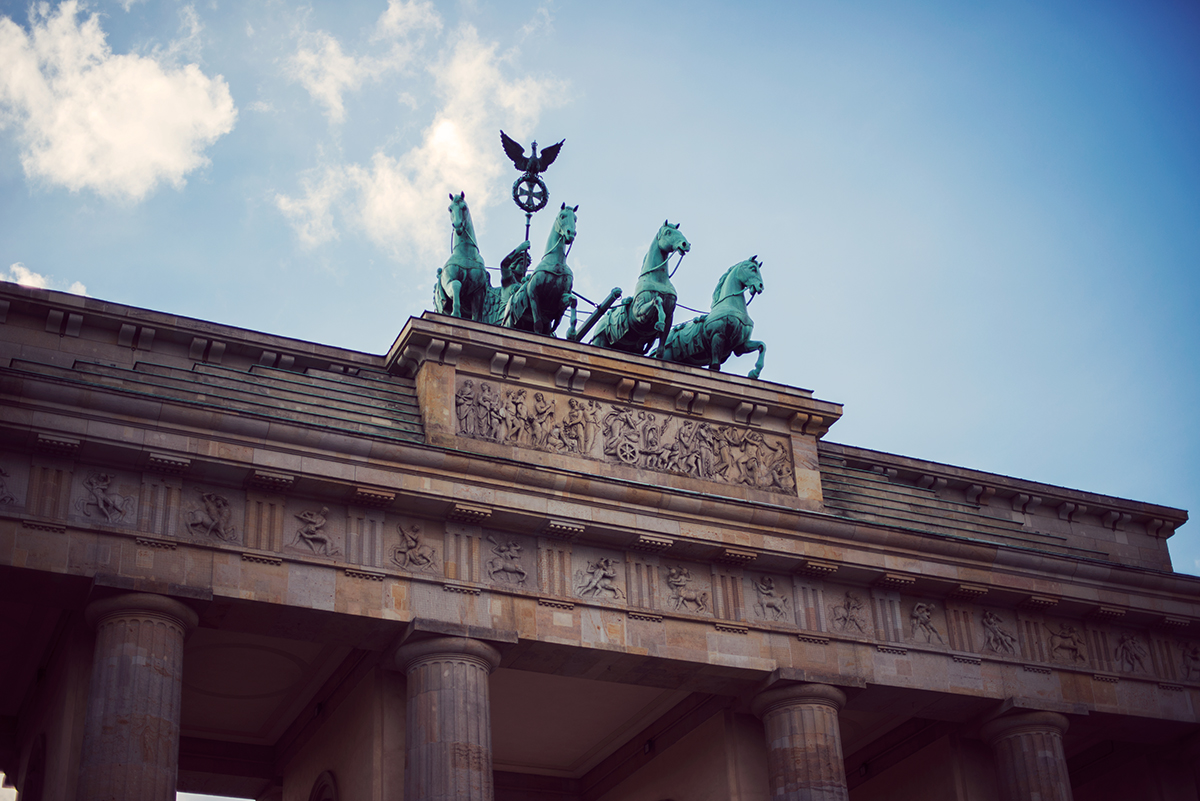 The Brandenburg Gate quadriga