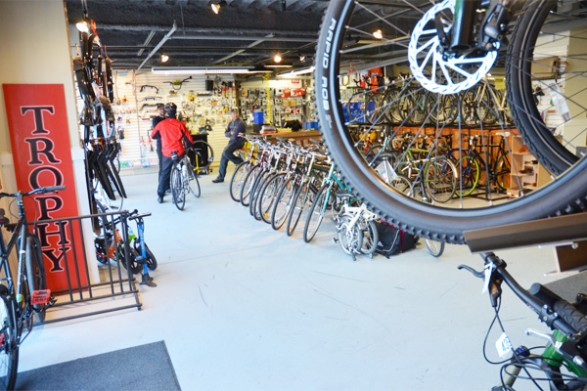 """Complimentary Tune-Up  Trophy Bikes   Trophy Bikes is an independent bike shop in Philadelphia, PA, specializing in touring, commuter, and folding bikes. We are Philly's largest Surly dealer, and are an """"Outstanding"""" Brooks Dealer.    Retail Value: $80"""