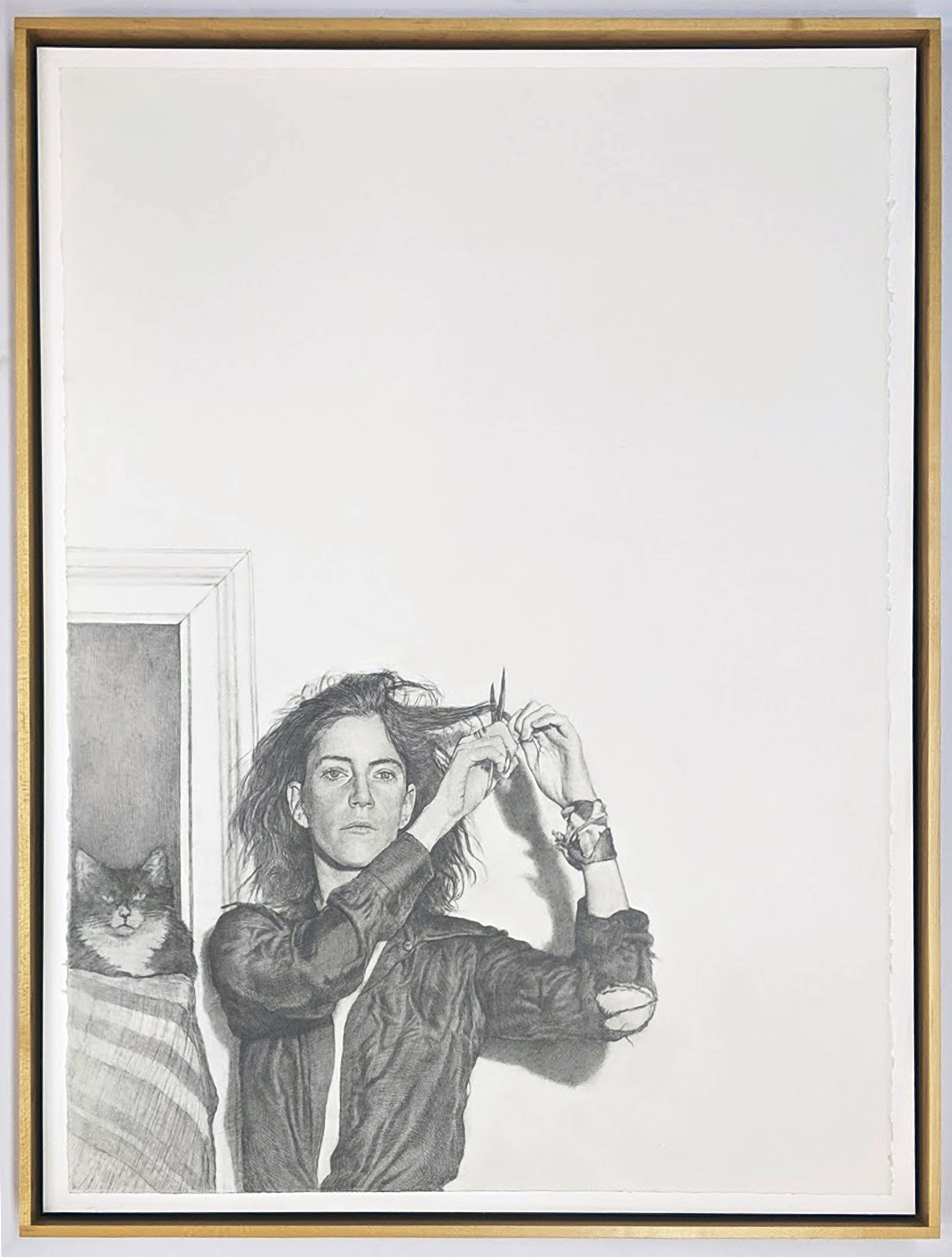 Mark Stockton   Patti (Smith) (after Mapplethorpe)  2017 Graphite on Arches Paper