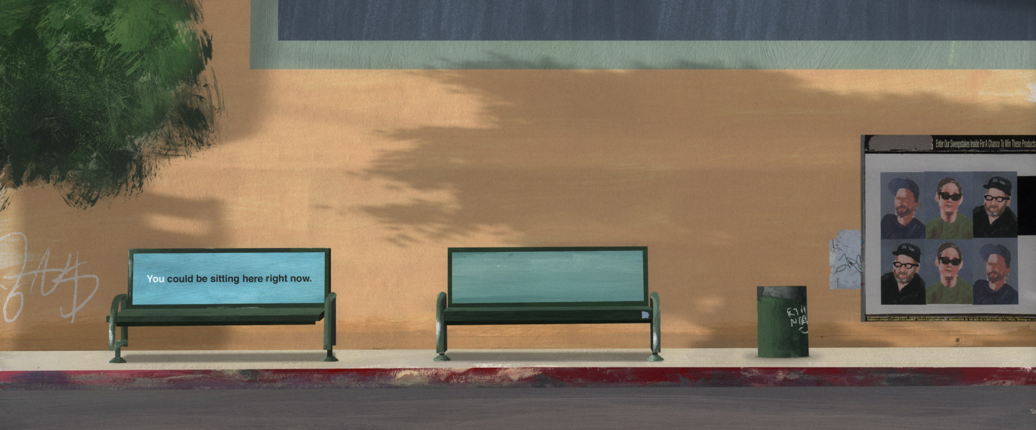 Hollywood Bus Bench