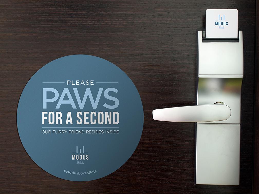Pet Warning Static Cling Signage