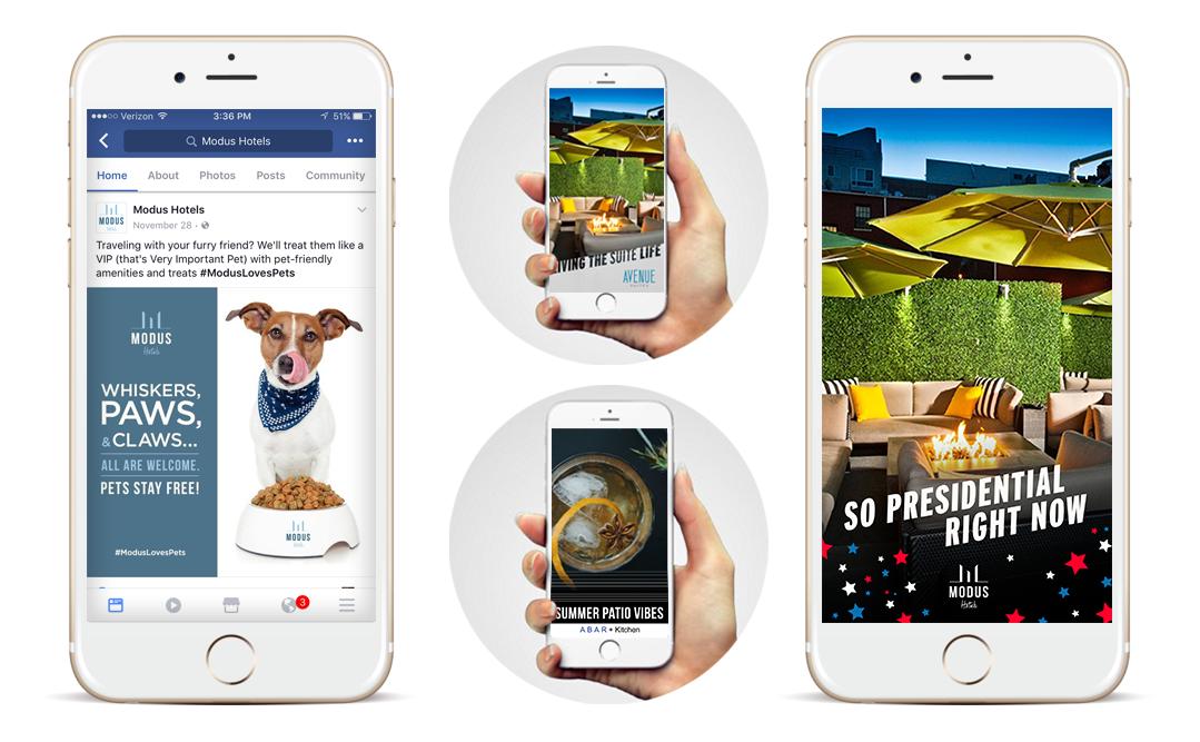 Social Media Advertising + Snapchat Filters + Copywriting