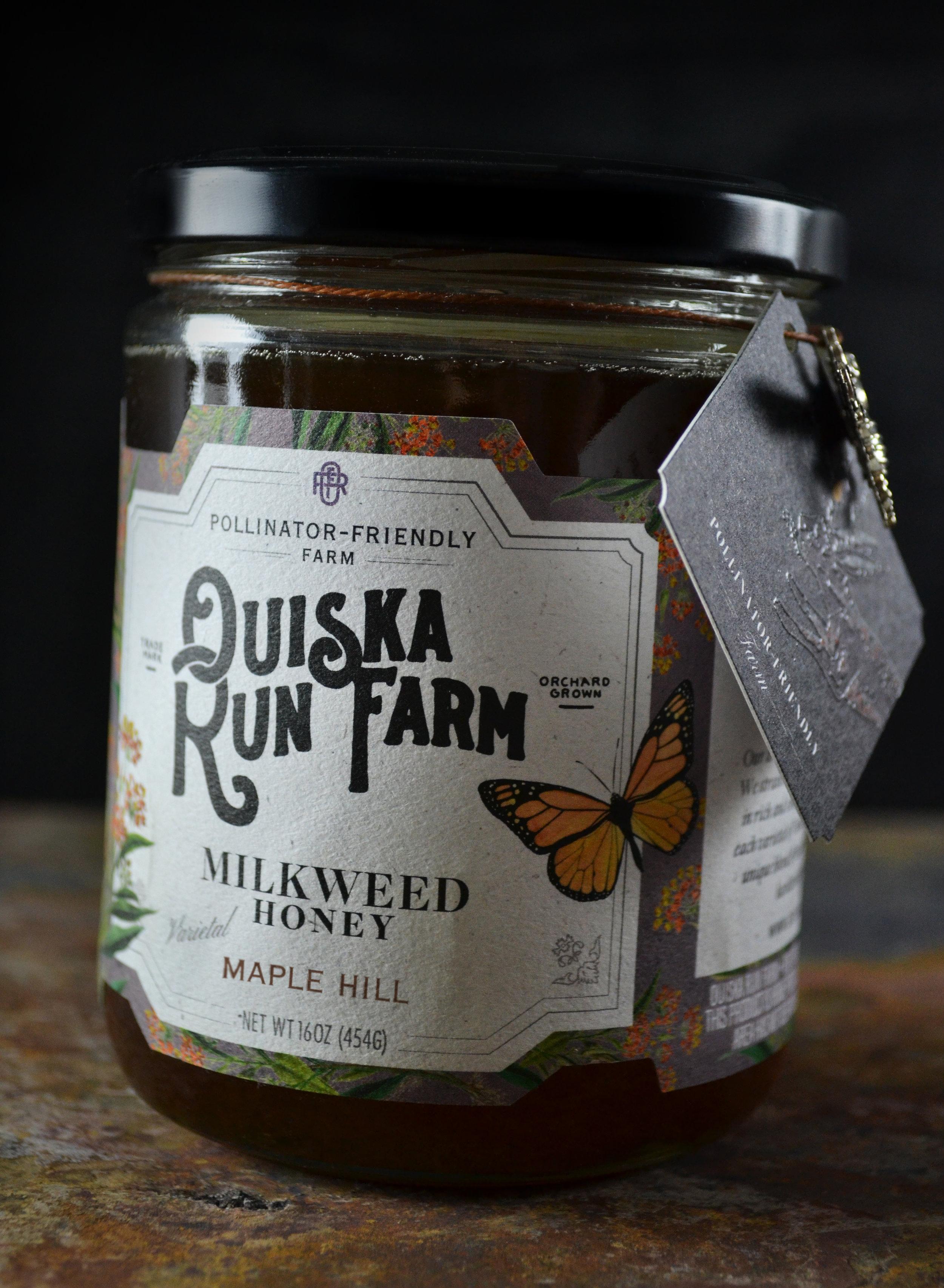 Ouiska Run Farm Milkweed Honey Detail