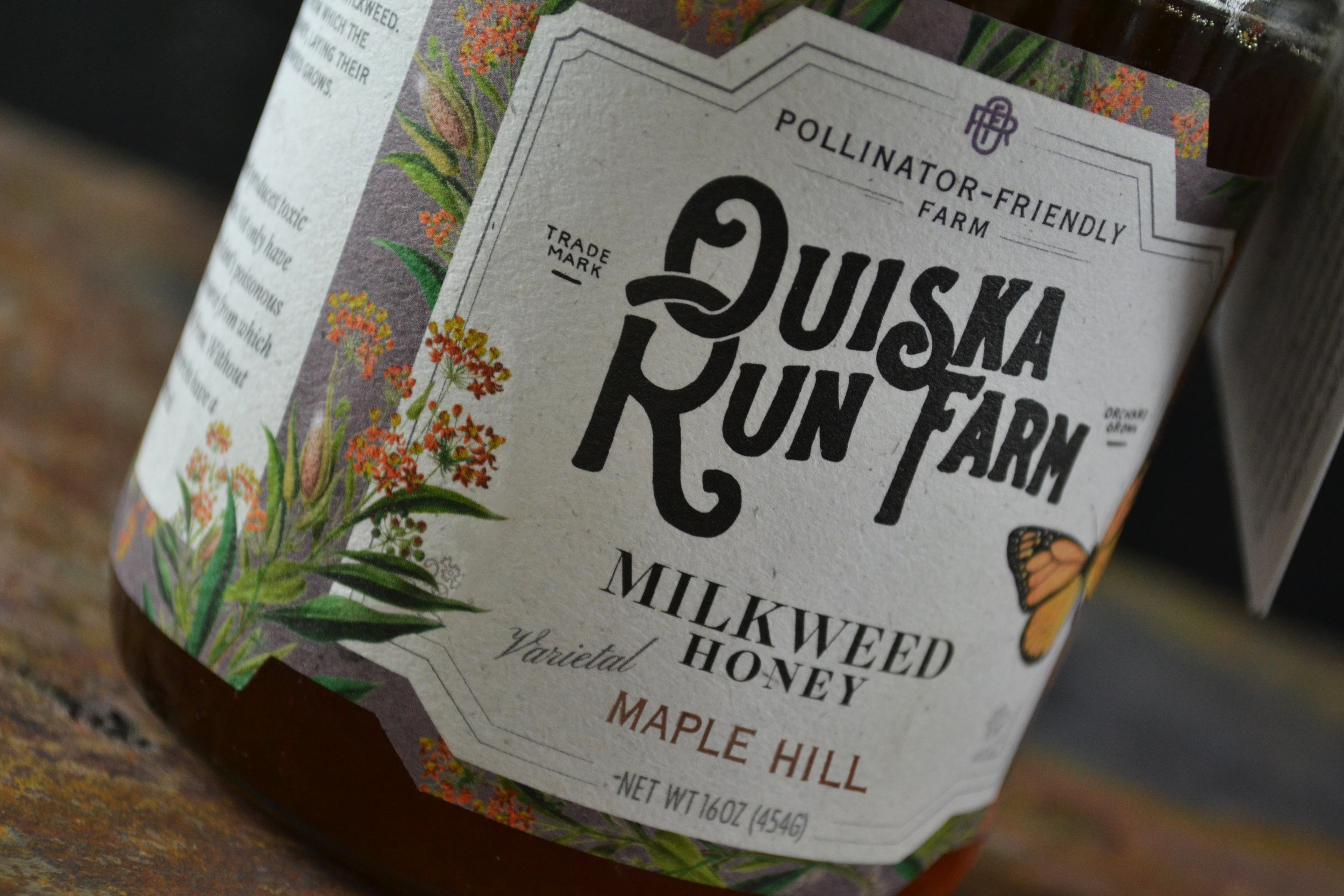 Ouiska Run Farm Honey Package Design