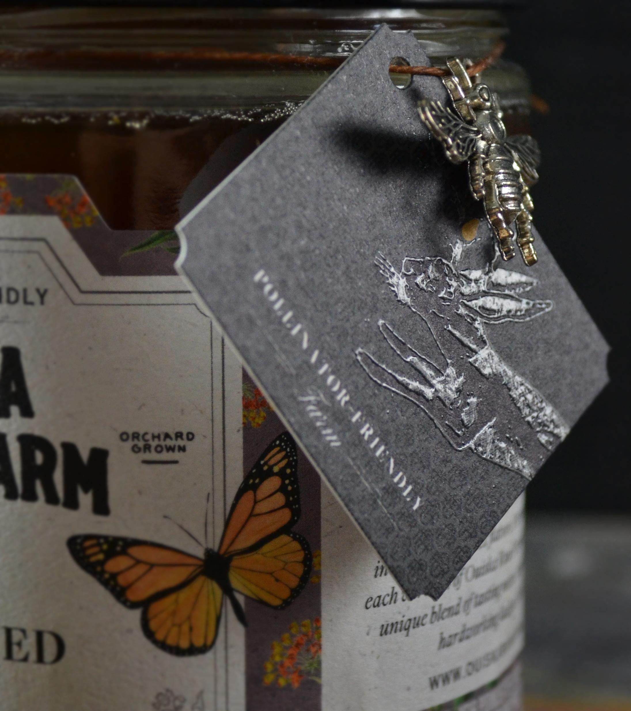 Ouiska Run Farm Honey Package Design Detail