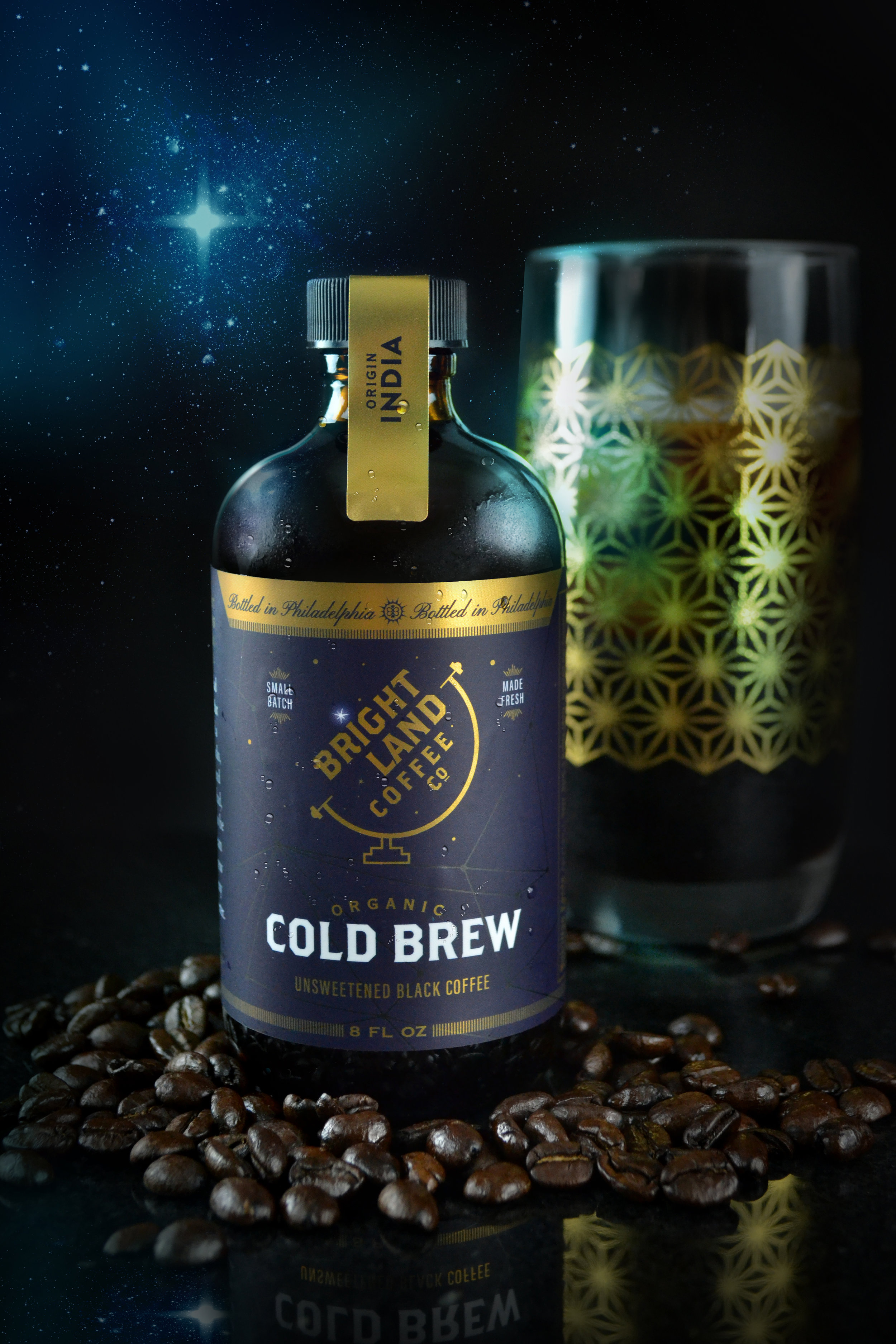 Bright Land Coffee Cold Brew Packaging