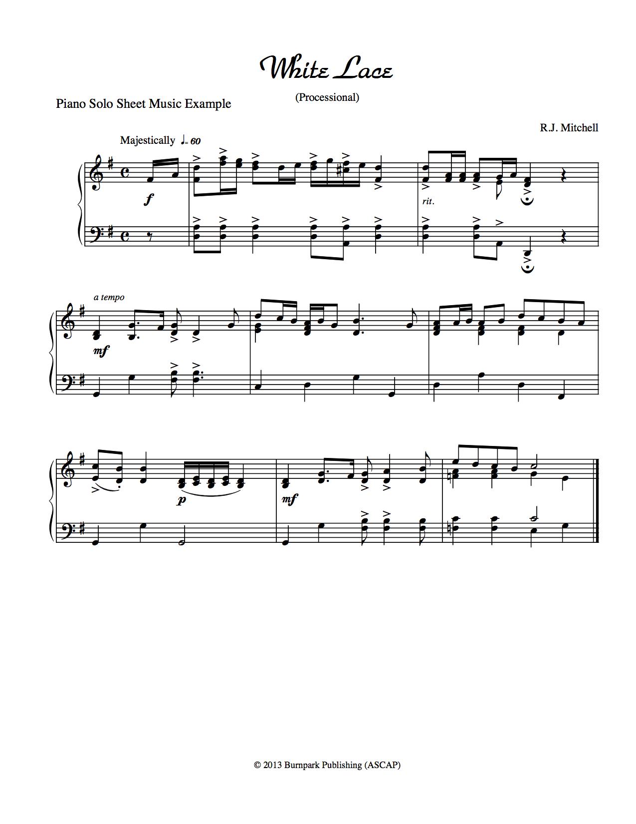 Piano Sheet Music Example