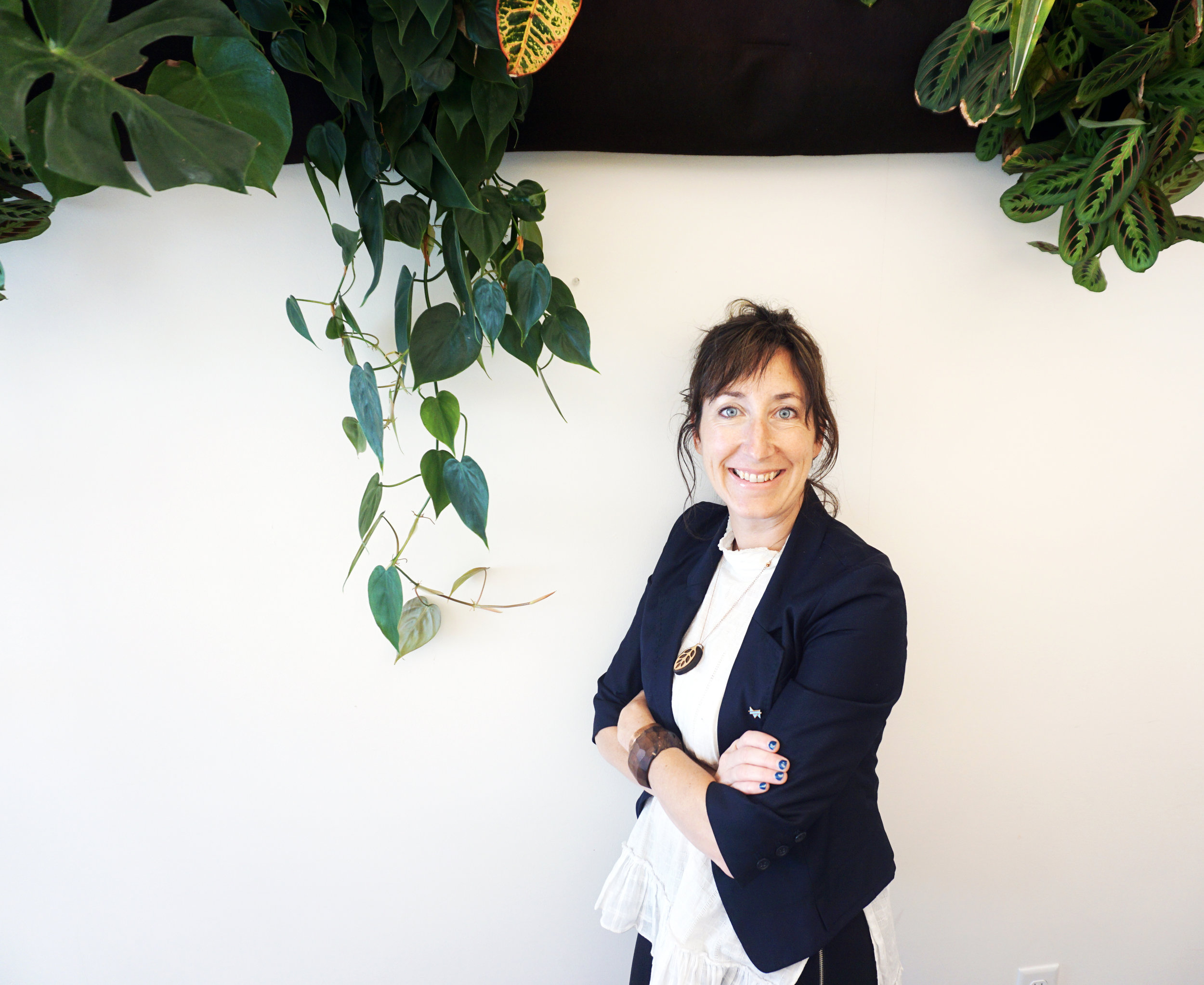Nell Rueckl, Spot Spas founder, at the Uptown location.