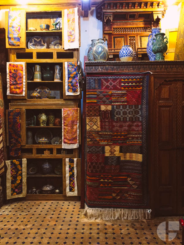 Inside Abdul's store, the Coin Berbere