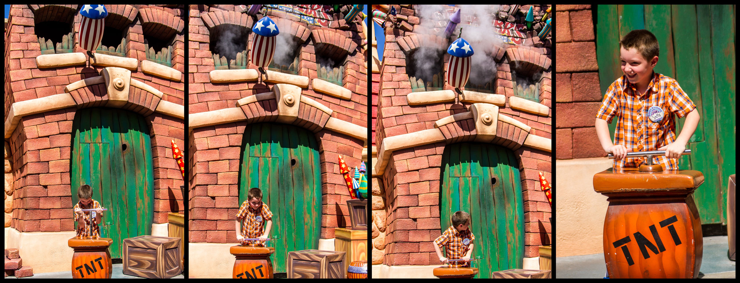 Will enjoying some pyrotechnics in Toon Town