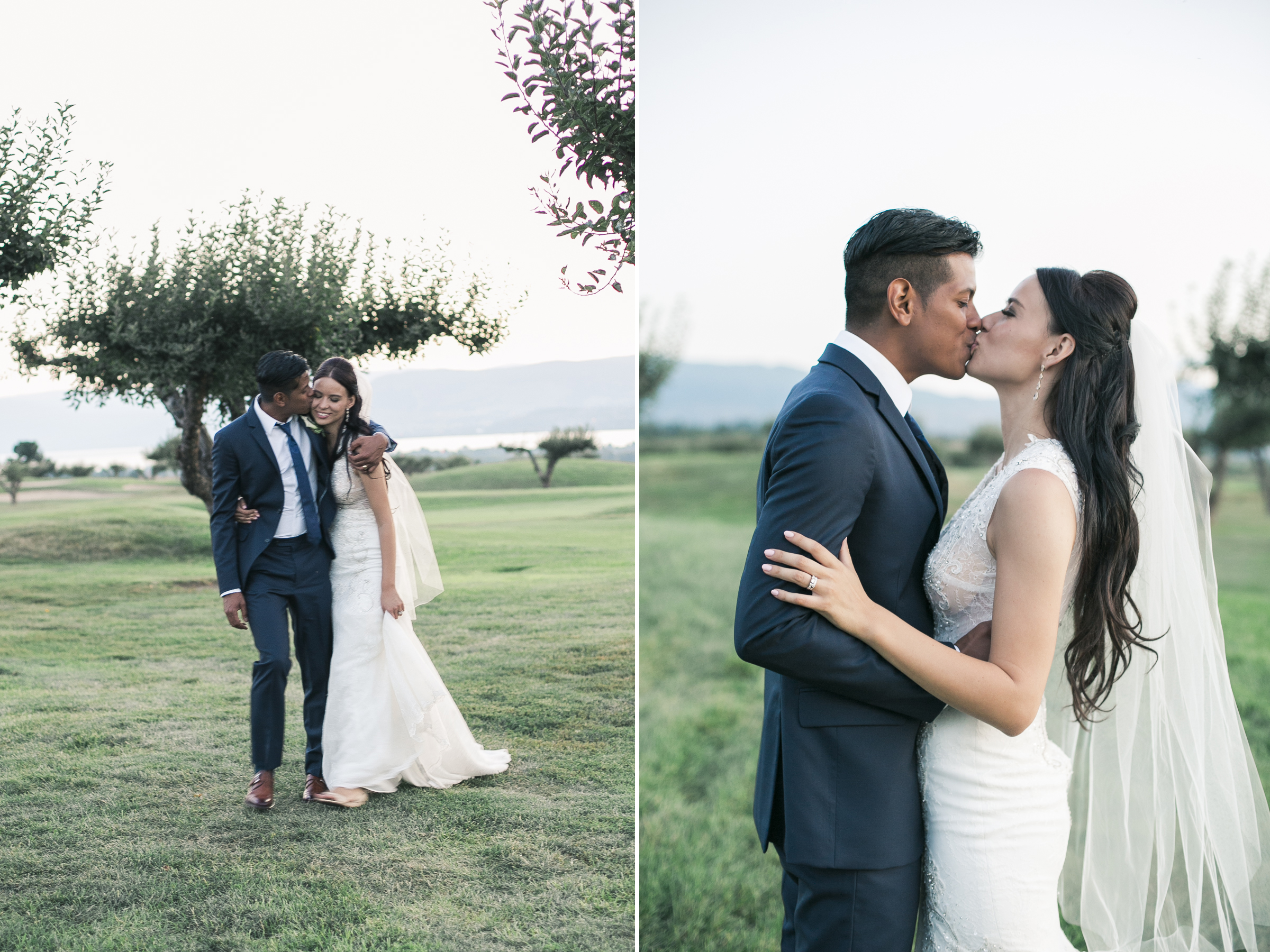 harvest golf wedding portraits