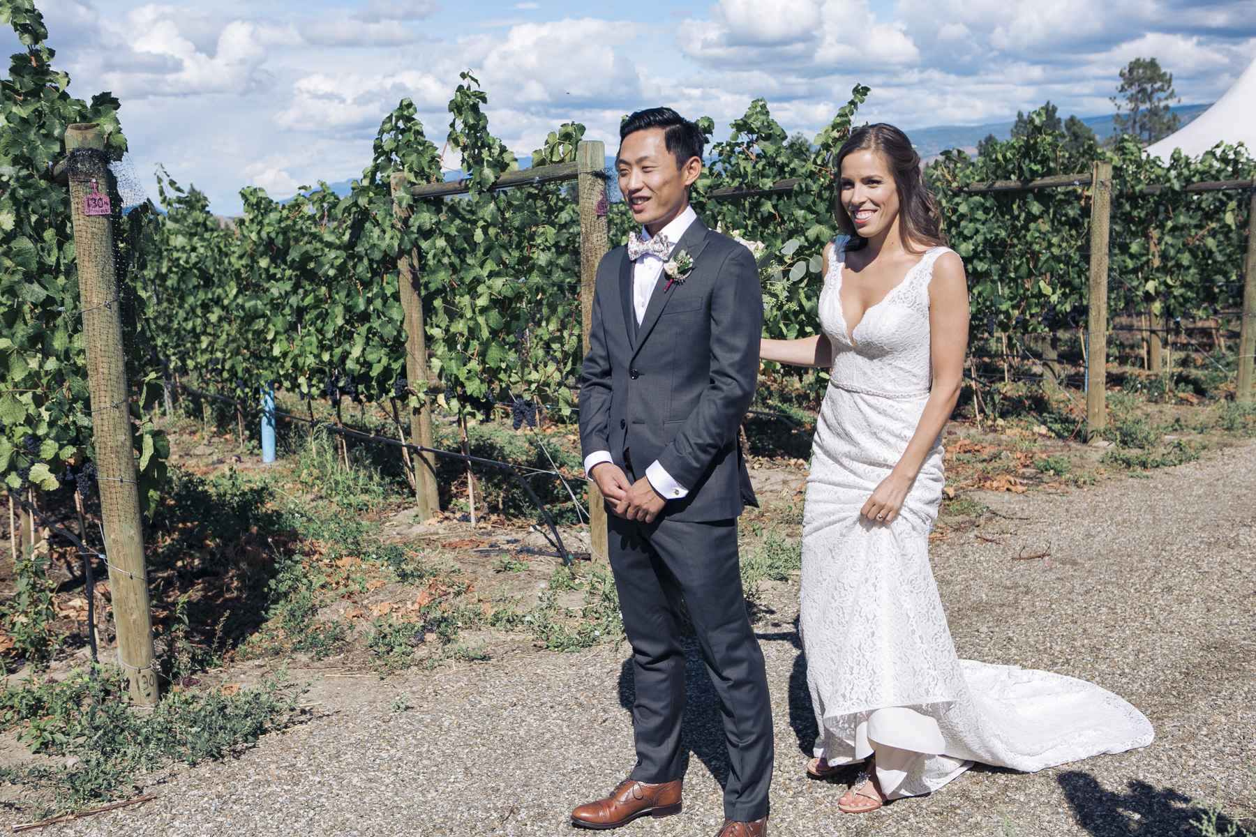 The bride's parents own the AMAZING Spierhead Winery, which we used as the first look and portrait site.