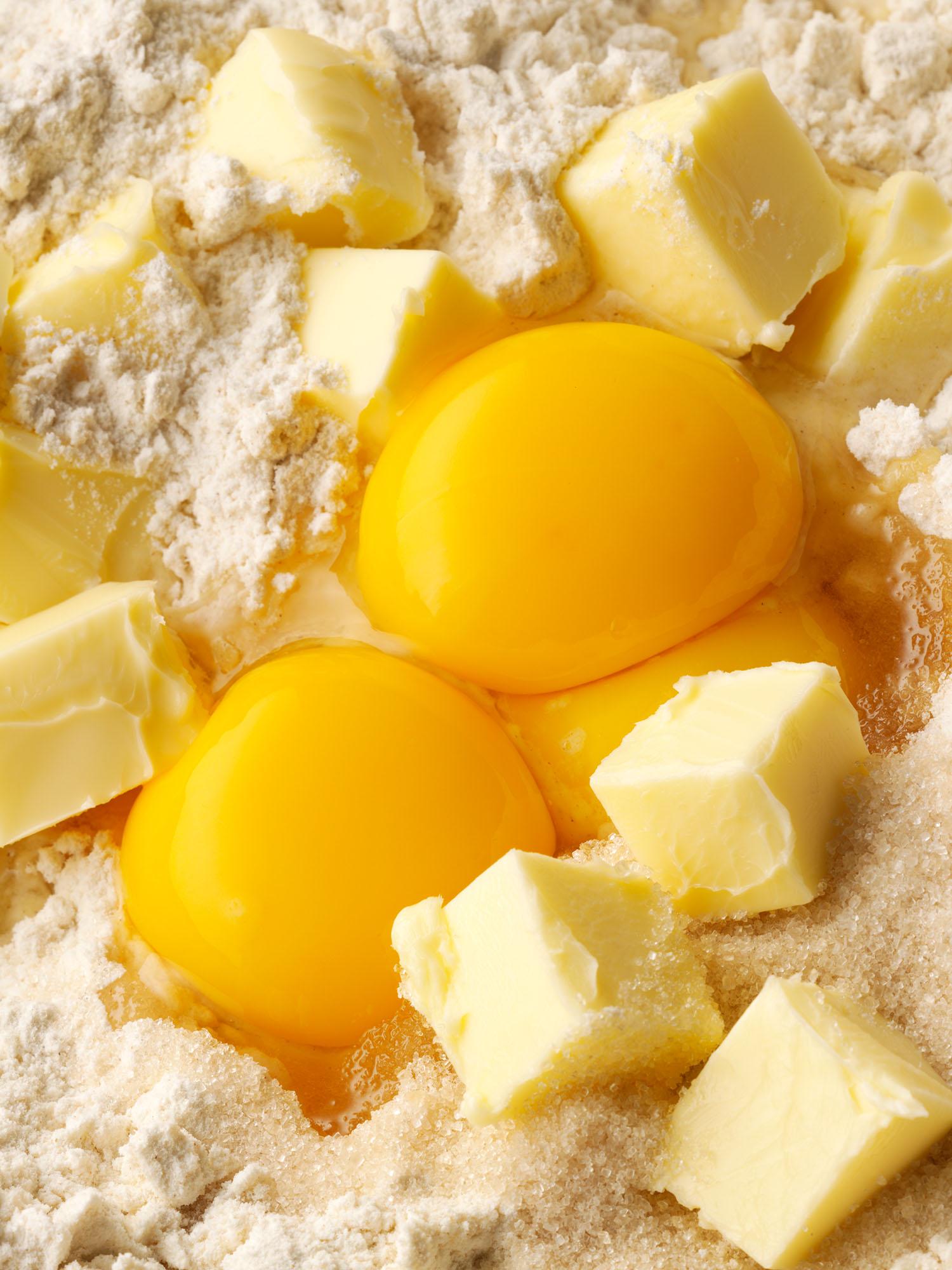 Food Photography Photographer London UK Egg Butter Flour