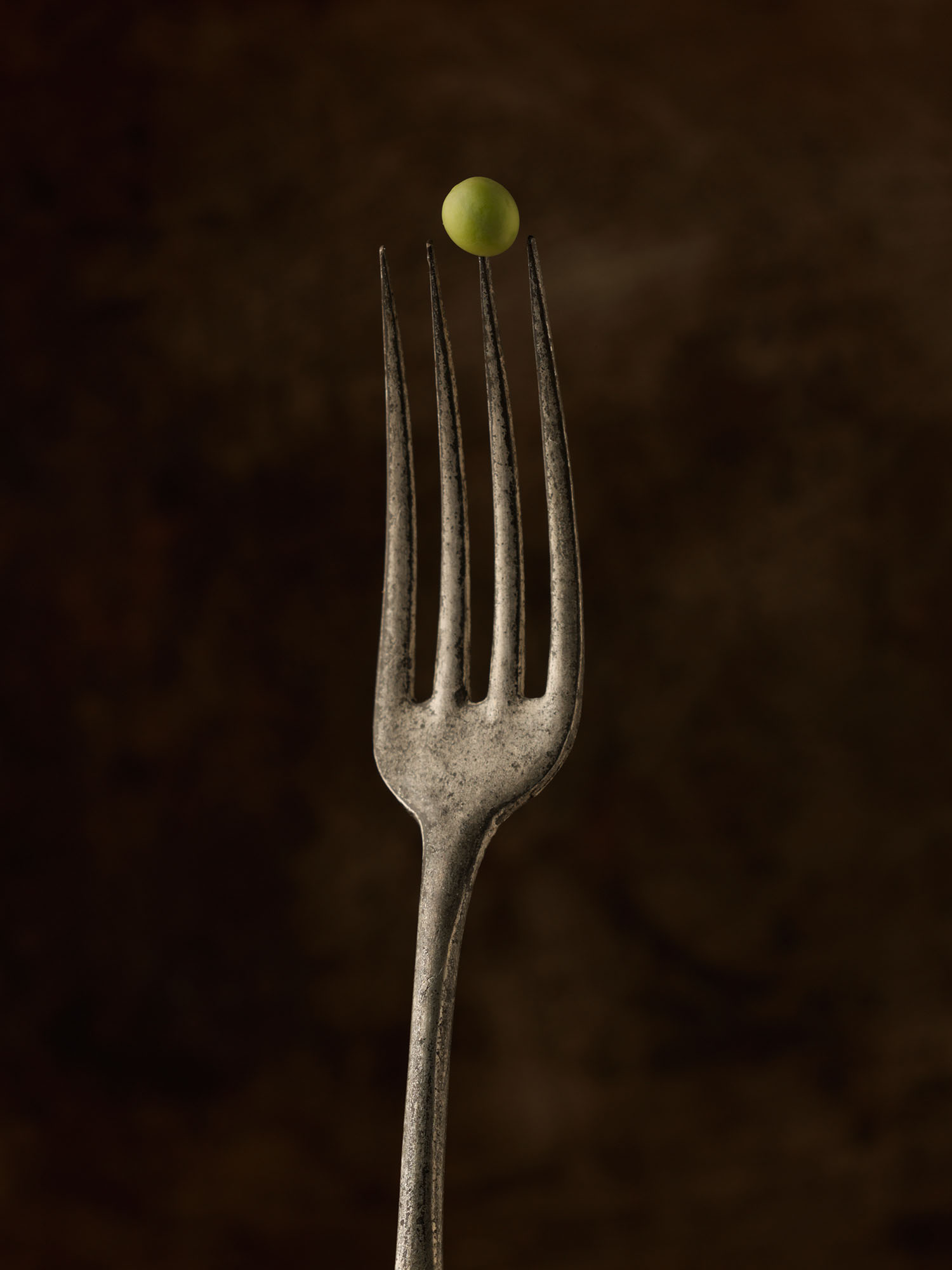 Food Photography Photographer London UK Fork Cutlery Pea