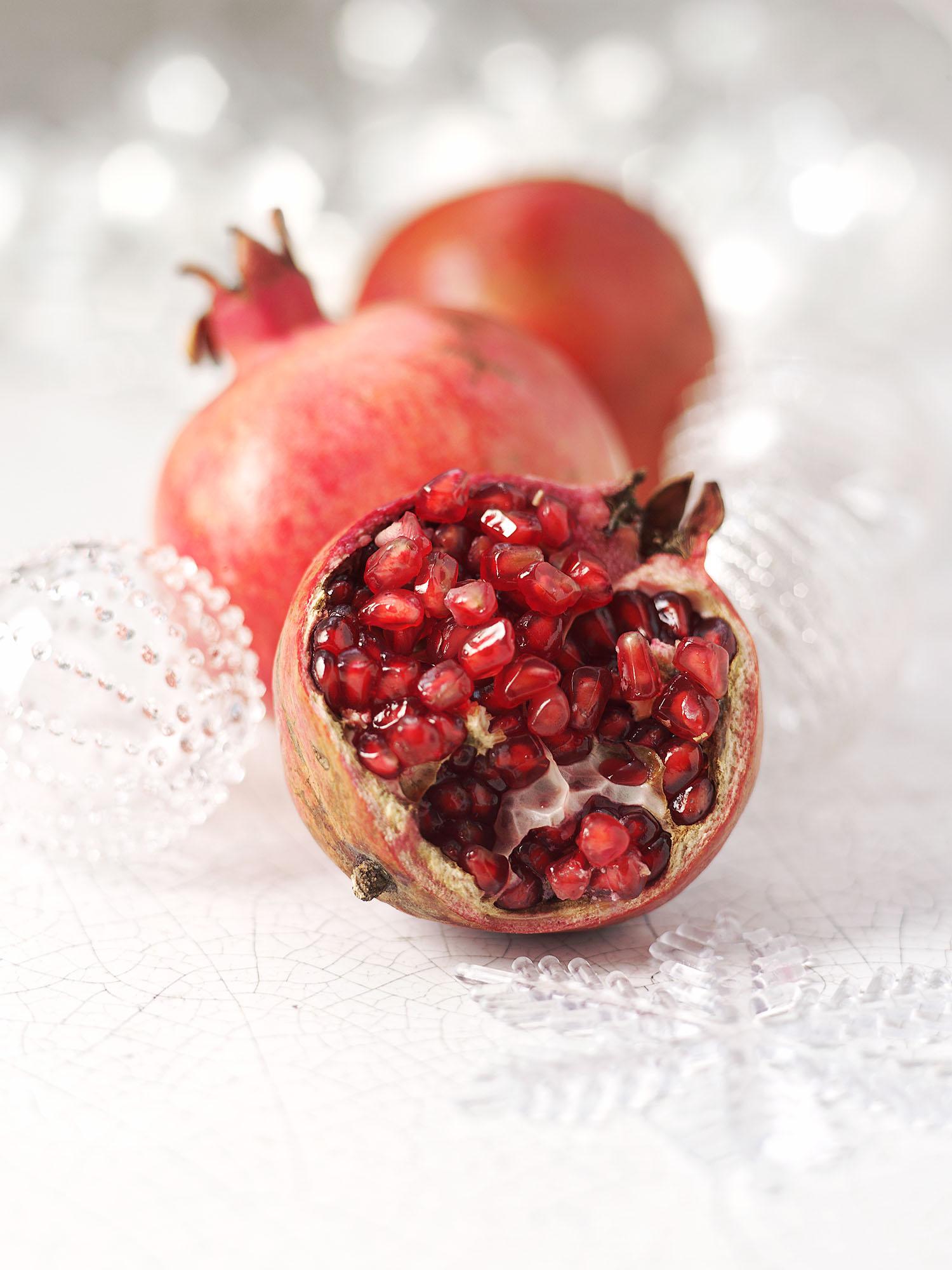 Food Photography Photographer London UK Pomegranate Christmas
