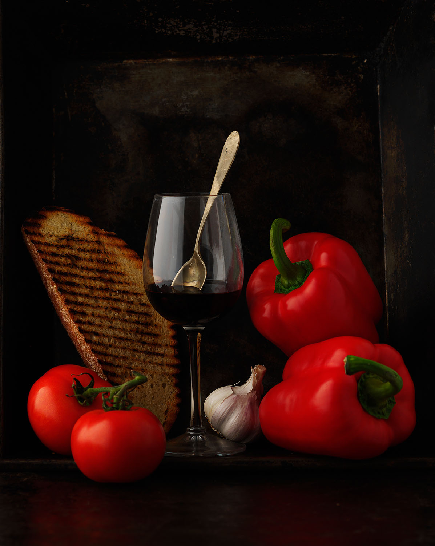 Food Photography Photographer London UK Tomato Pepper Garlic