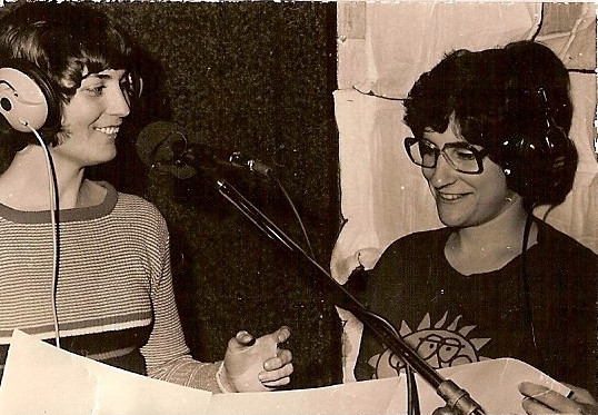 "Naomi and Rosa during the recording of ""Seagulls and Sunflowers""."