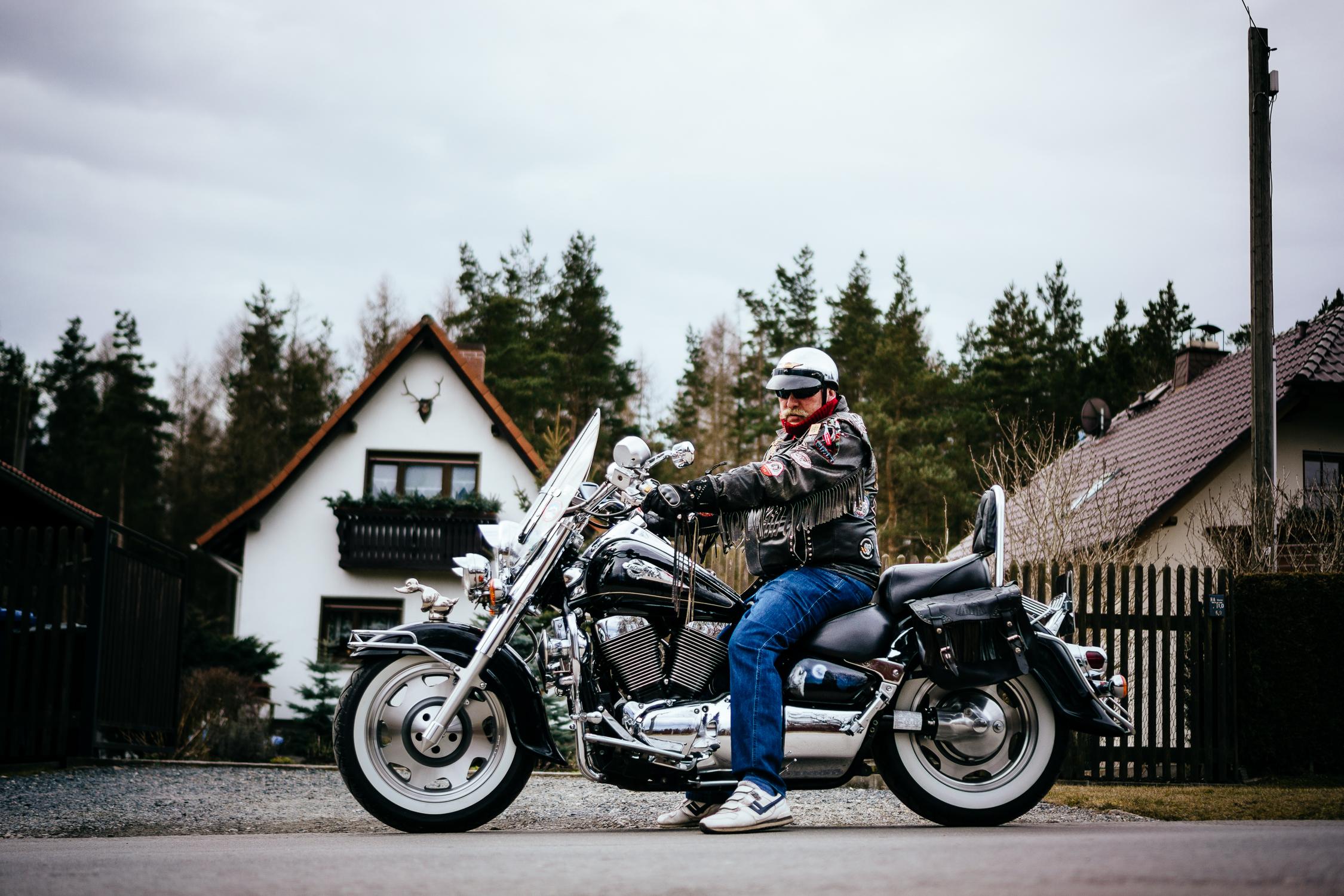 saxon biker