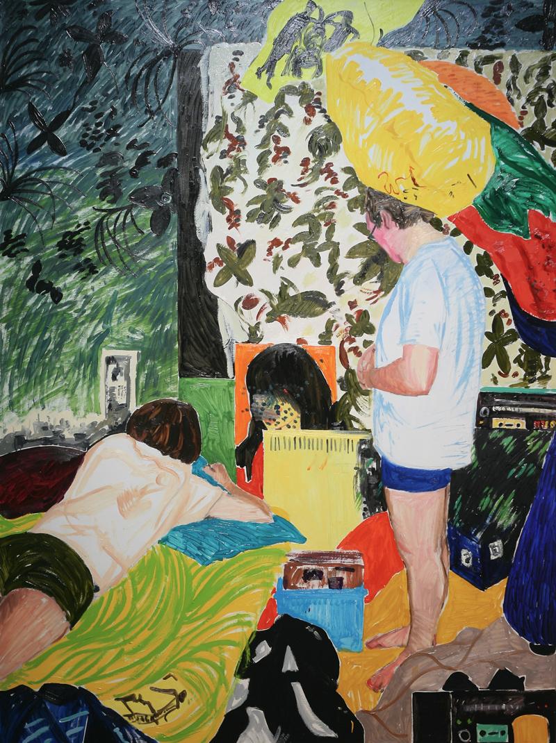 Kaarlo Stauffer, Jungle (2013, öljy kankaalle, 182 x 137 cm). Kuva: Kane Heinonen