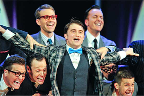 Daniel Radcliffe and the cast of How to Succeed in Business Wiithout Really Trying