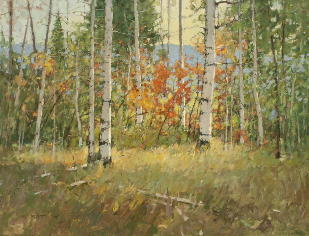 """Irby Brown Chinery Oaks 54"""" X 70"""""""