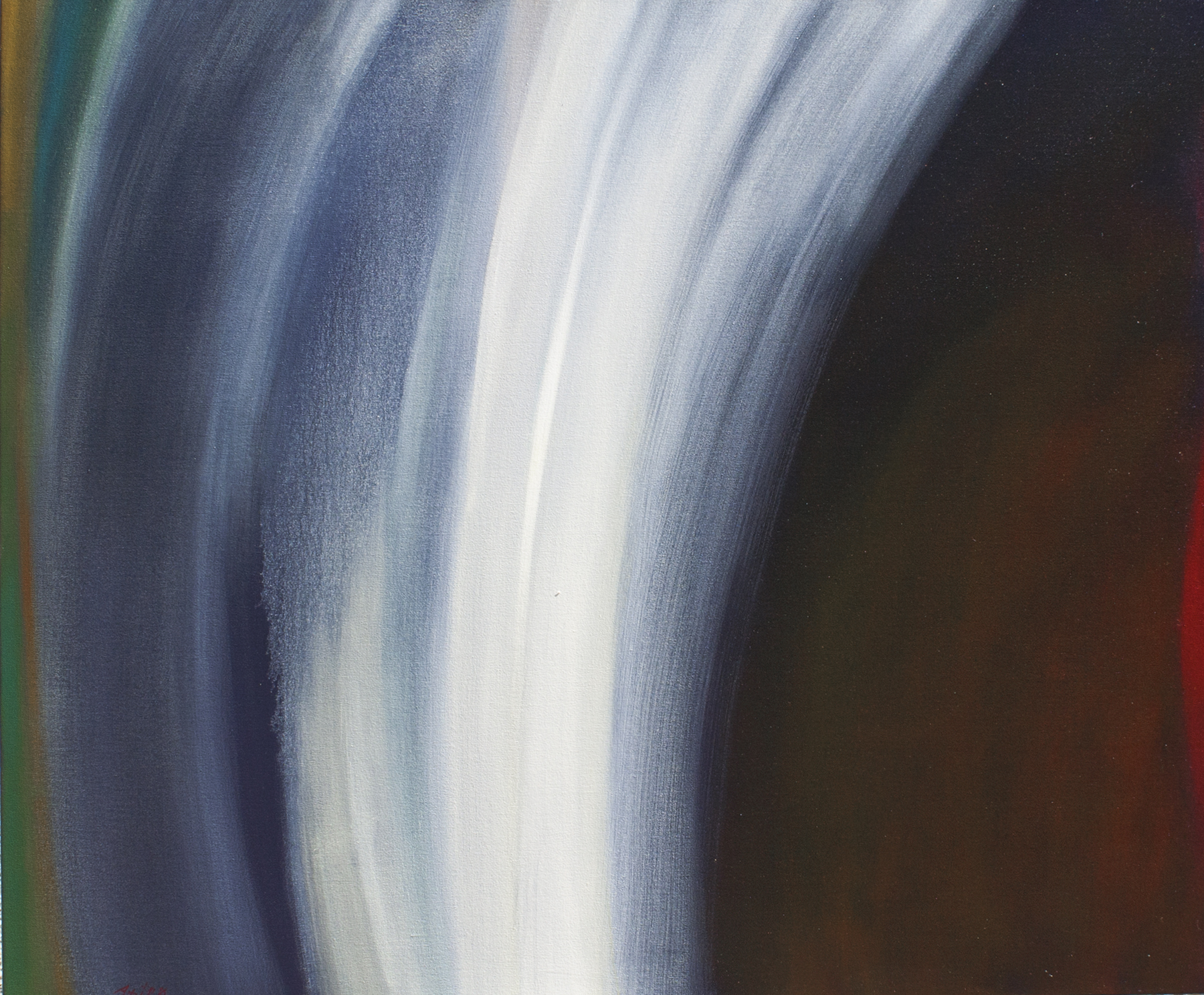 """The Waters of Nambe                      40"""" X 48""""                                Oil"""