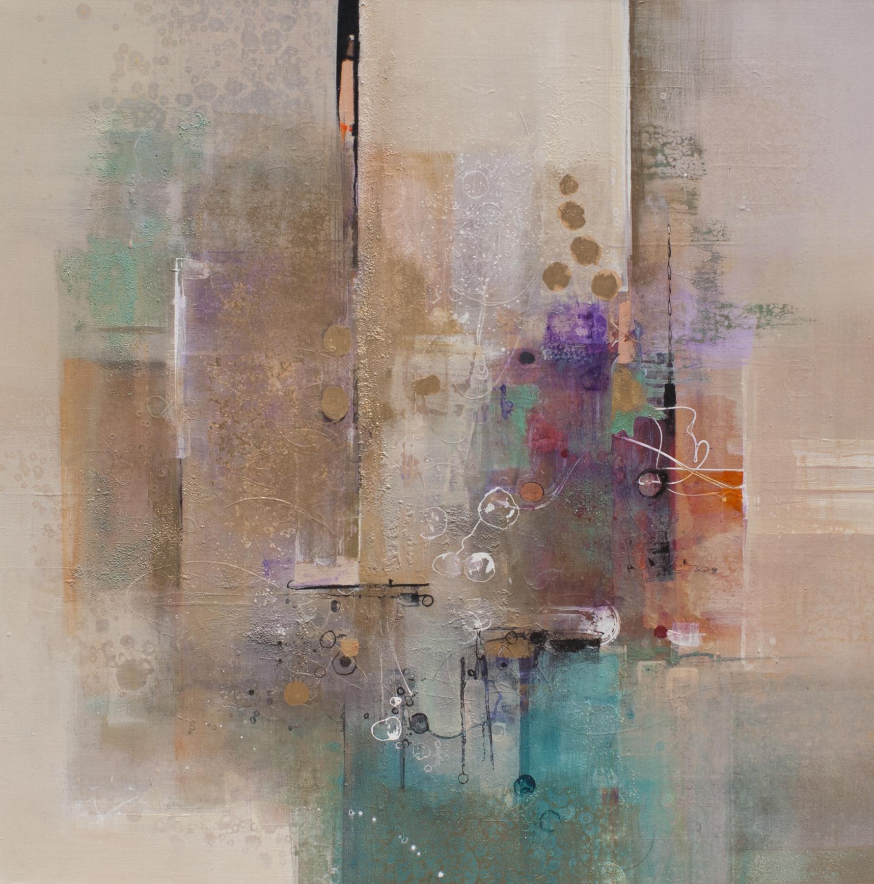 "Jennifer Davenport           Sea of Pearls         60"" X 60""             Acrylic"