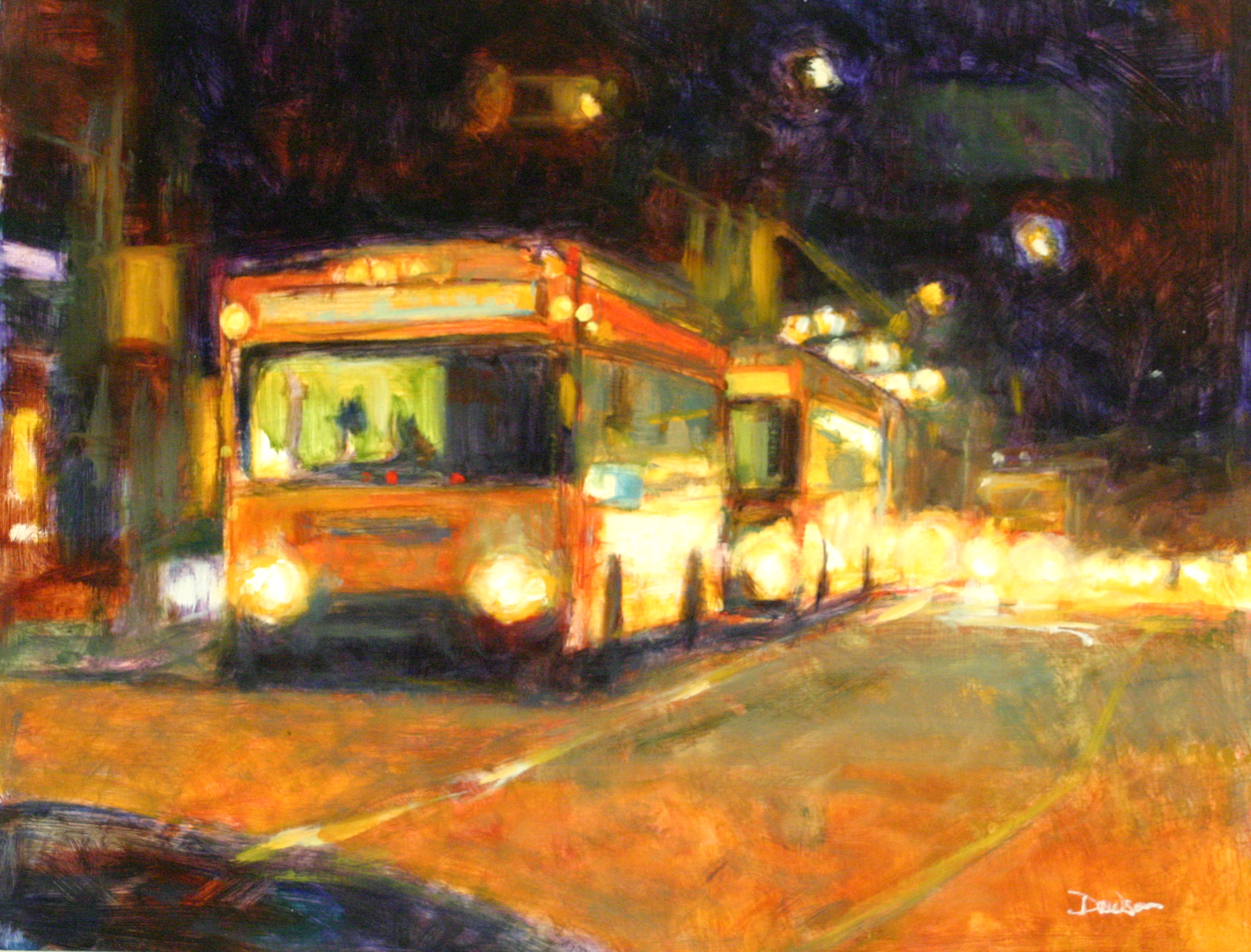"""Chain of Lights  20"""" X 26"""" Oil"""