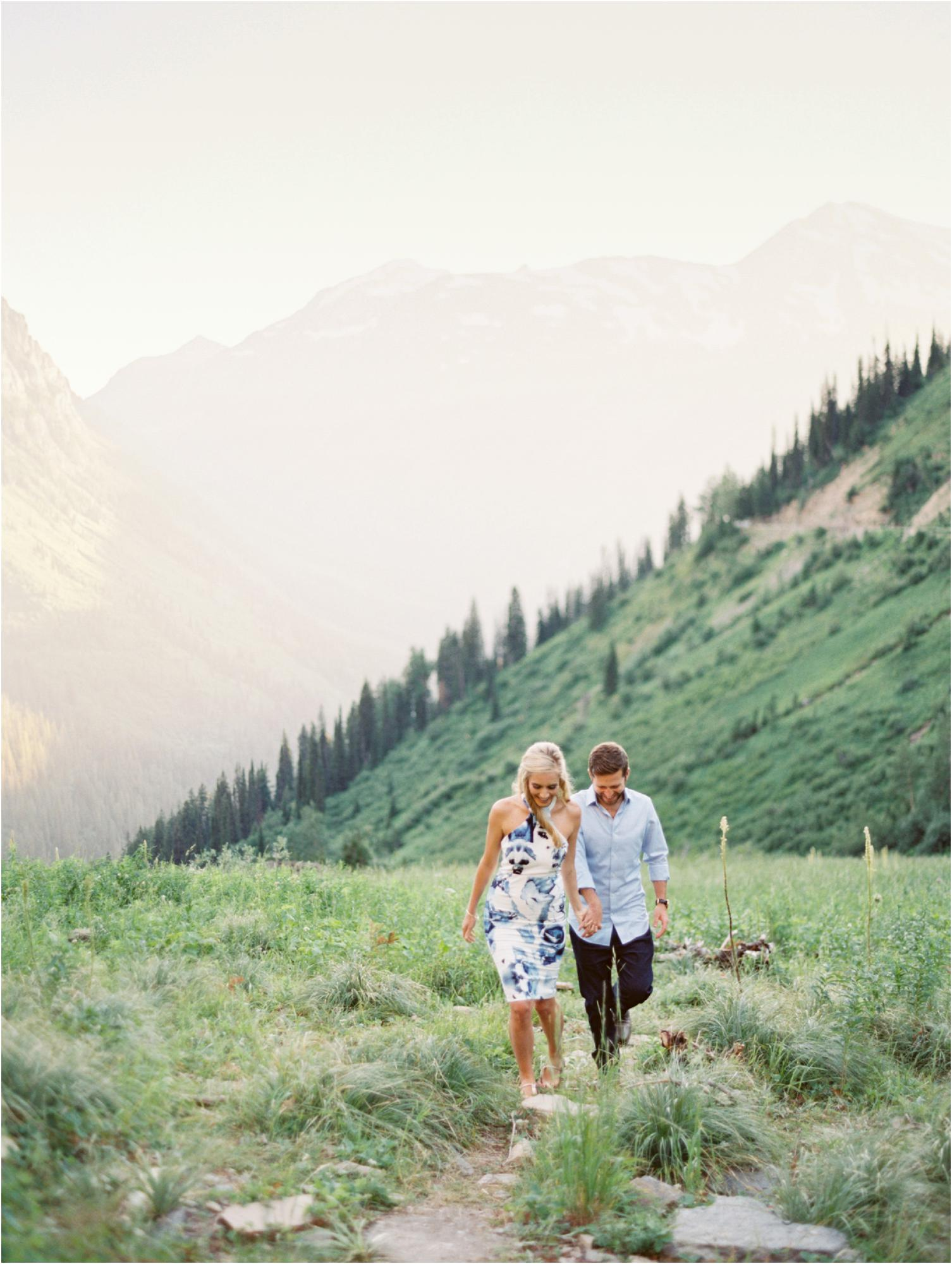 Engagement in Glacier National Park, Jeremiah & Rachel Montana Wedding Photographers