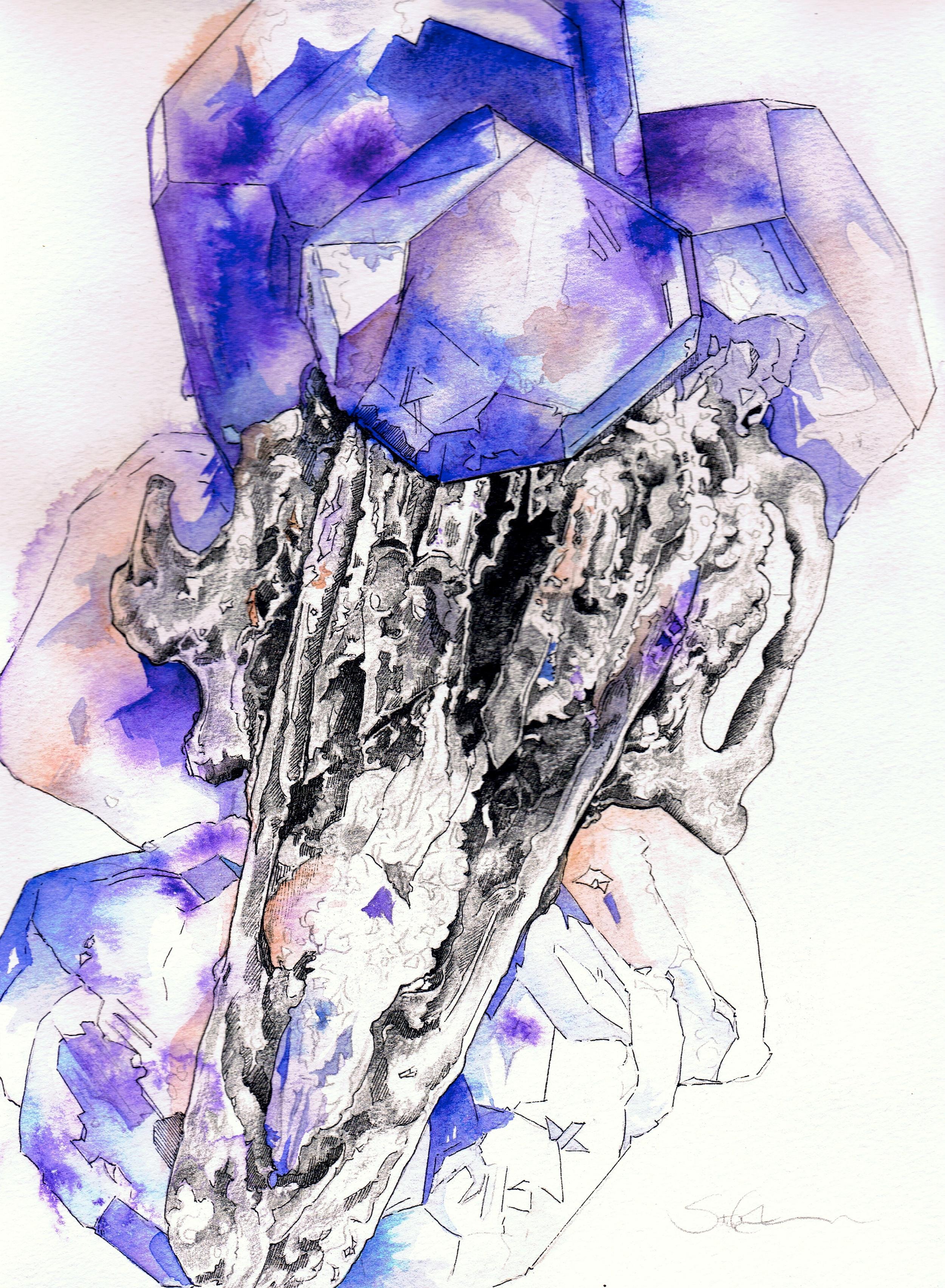 Crystal Skull Sketch