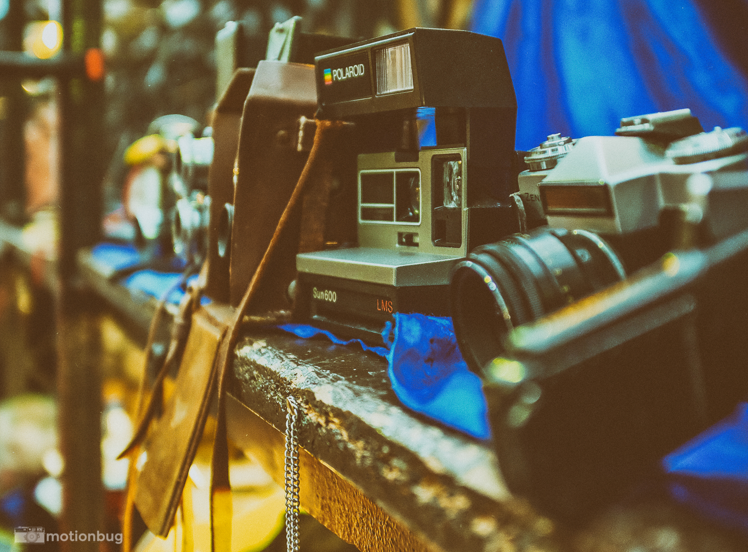 some old cameras in thecovent garden, London flea market