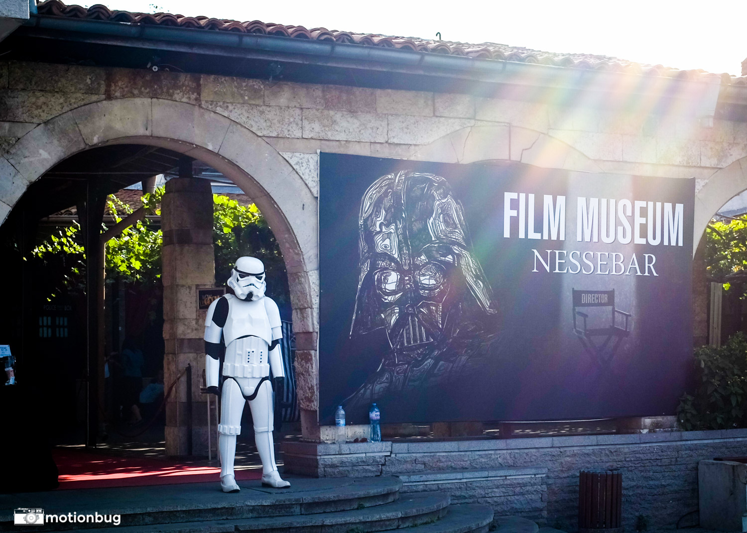 Look what I found in Nessebar, Bulgaria. Wouldn't want to be that guy though, running around in a storm trooper costume at 30+ degrees Celsius.