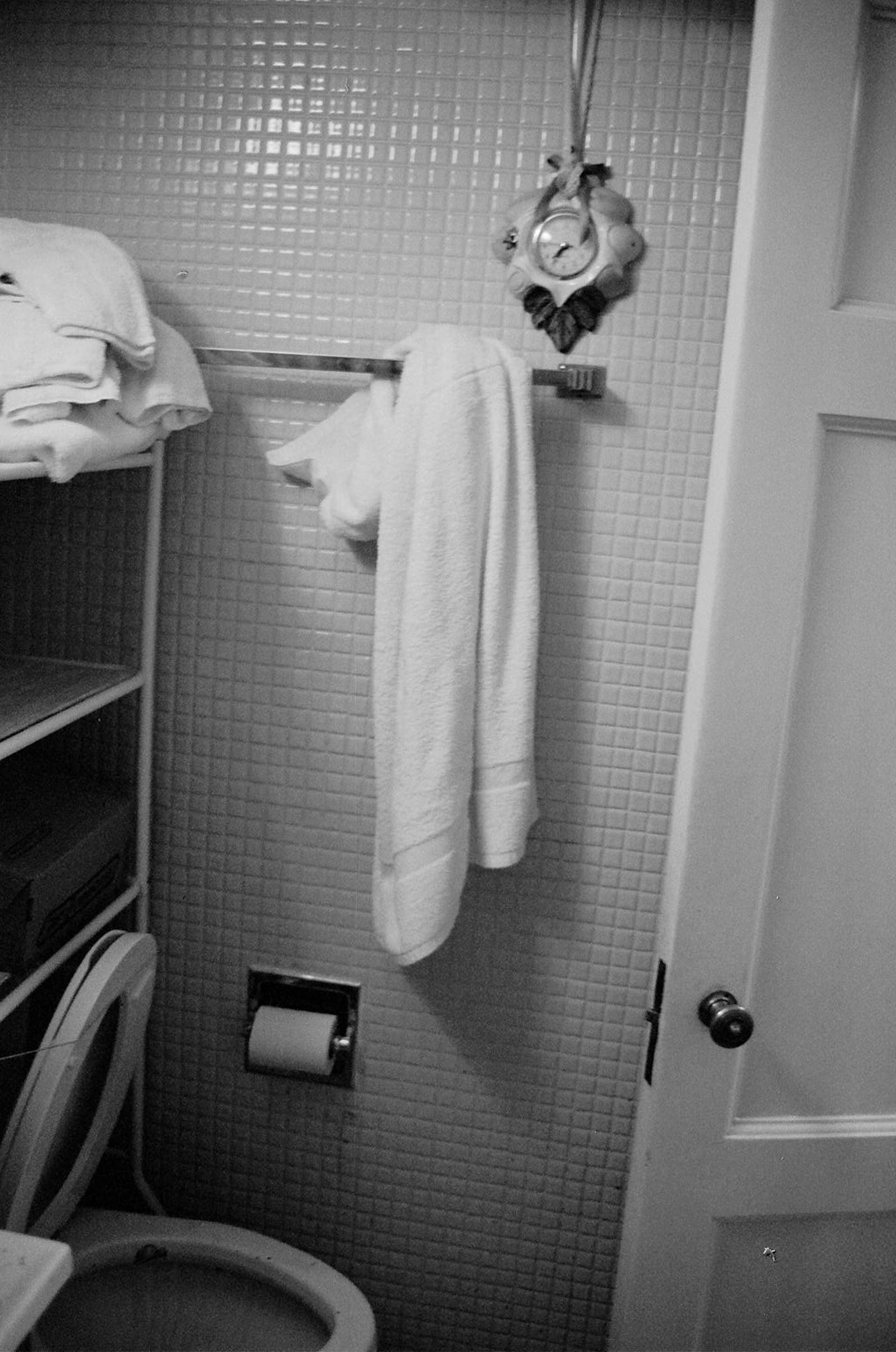 untouched bathroom after grandpas death