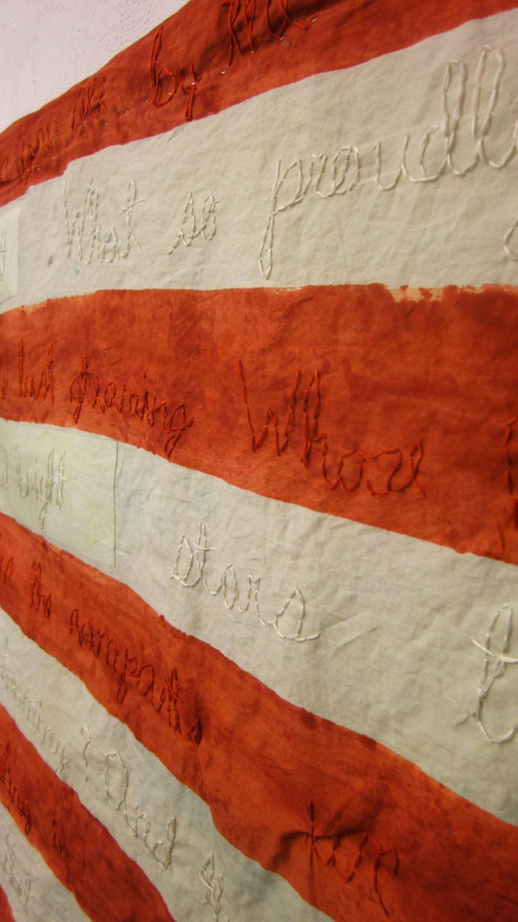 Bicentennial Flag detail
