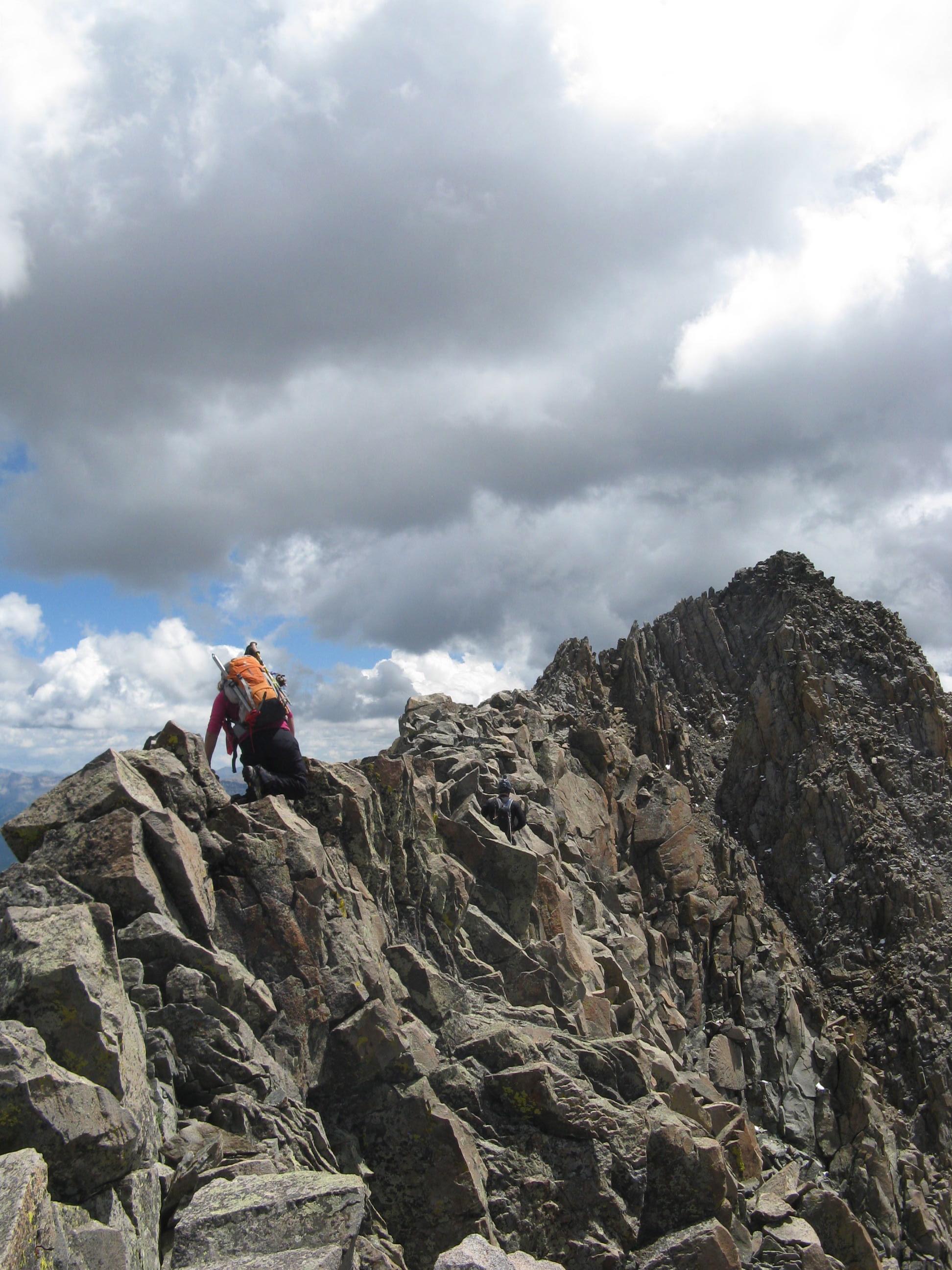 The mile long ridge between El Diente and Mt. Wilson