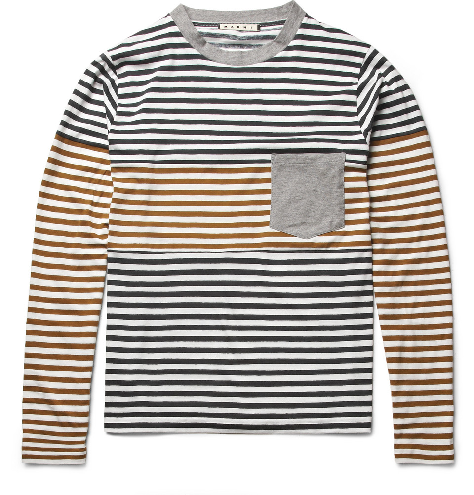 Panelled Long Sleeved T-Shirt $380