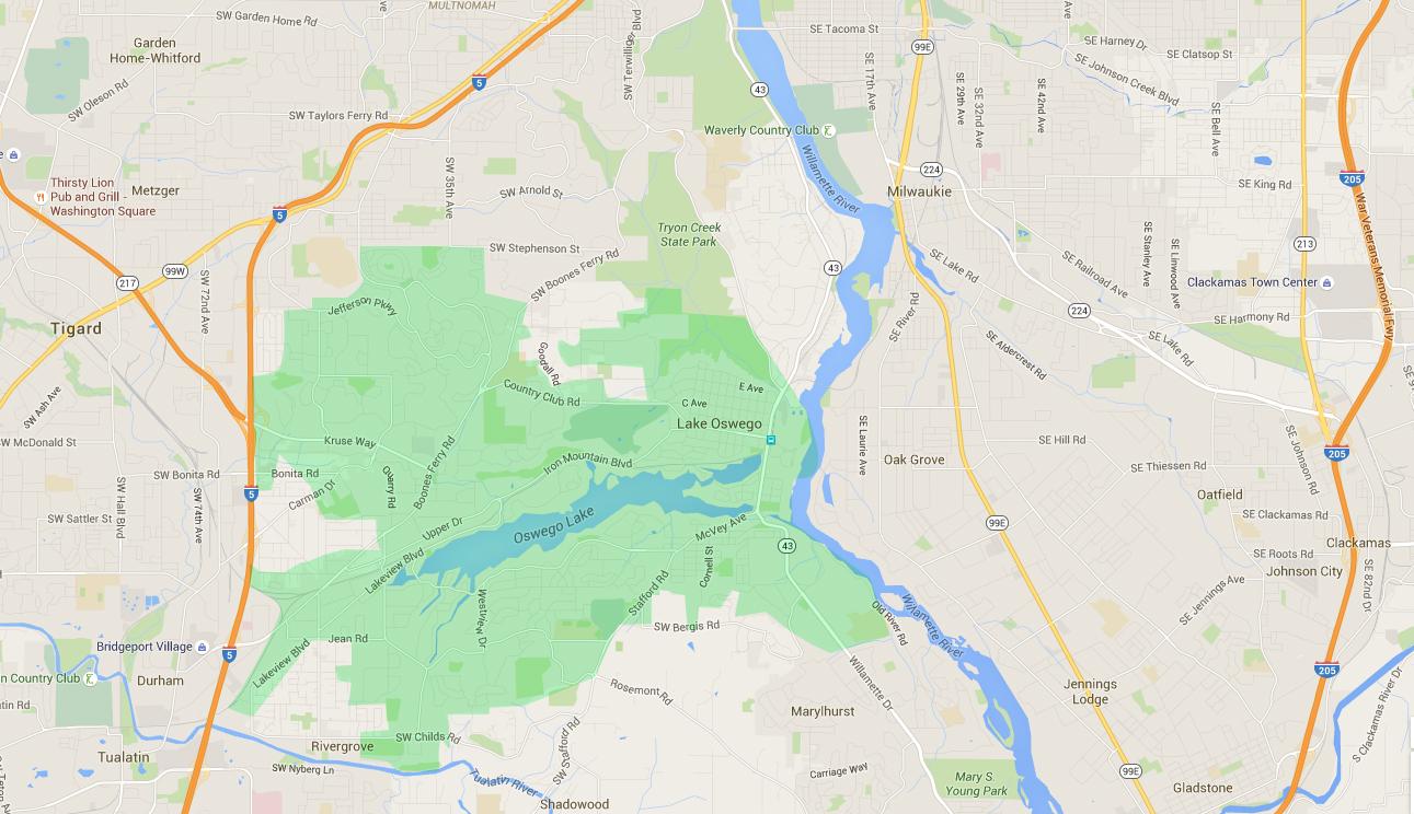 Lake Oswego neighborhoods -