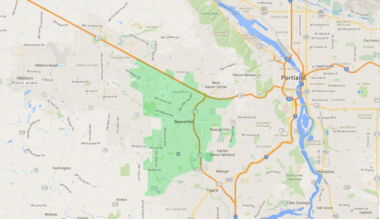 Beaverton neighborhoods -