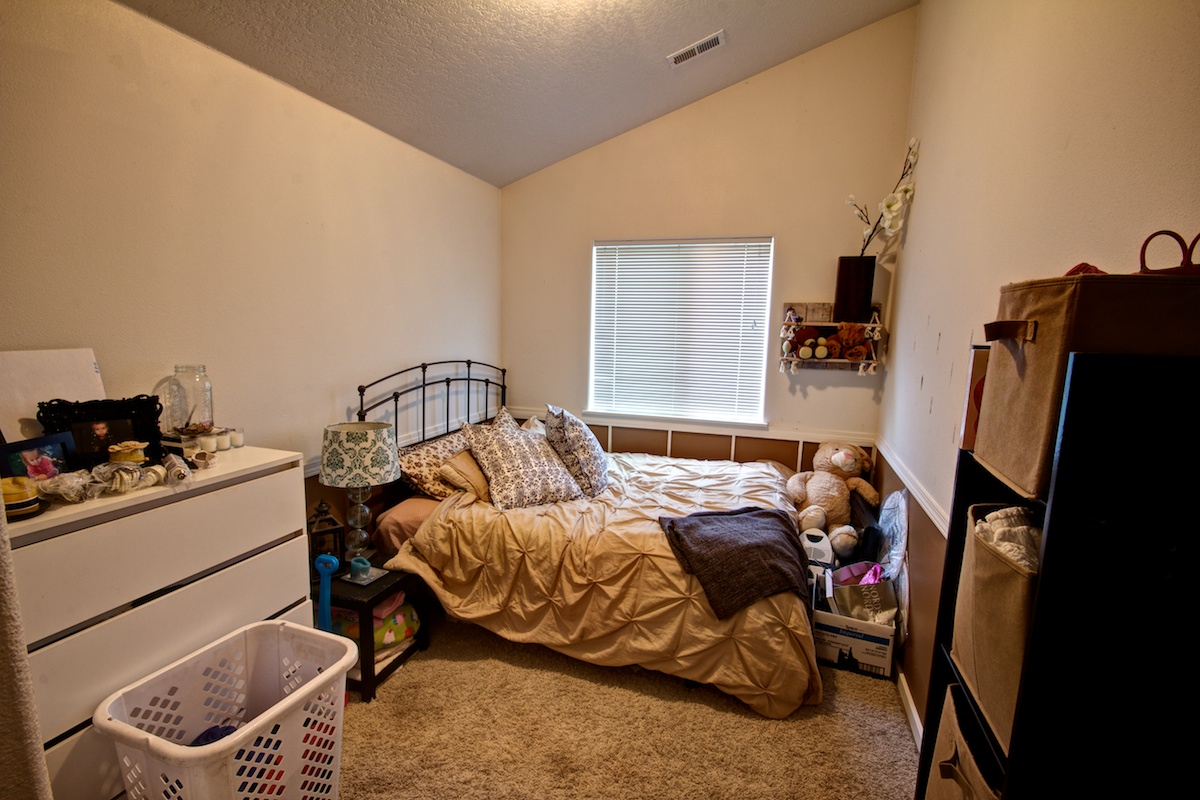 First bedroom in a Gresham, Oregon house for sale.