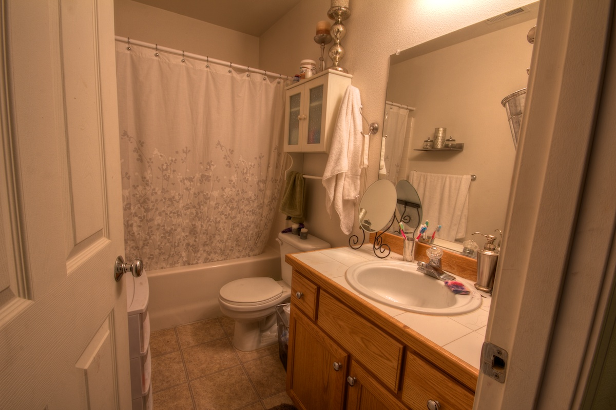 First bathroom of a house for sale in Gresham, Oregon