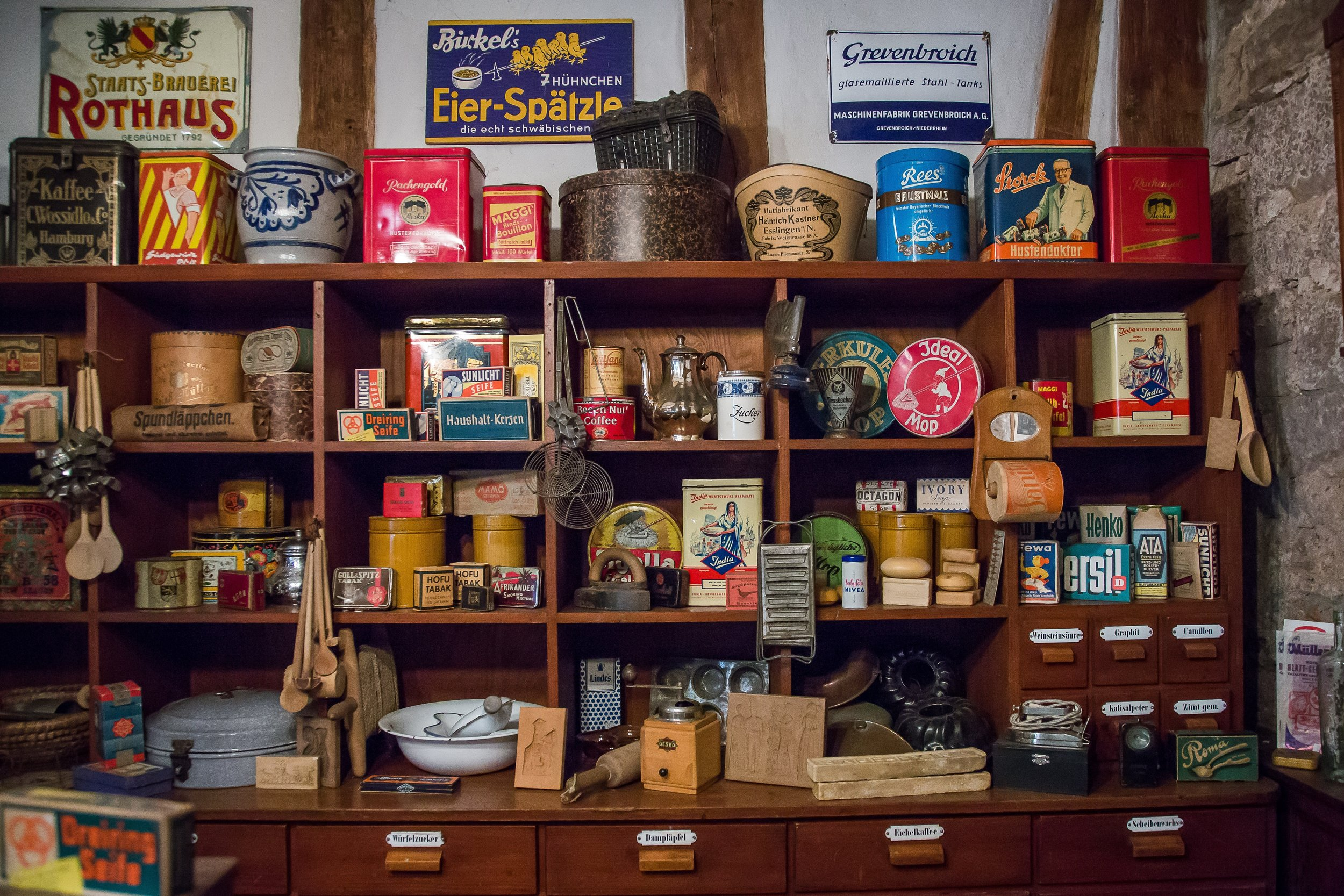 messy garage shelves that needs to be decluttered